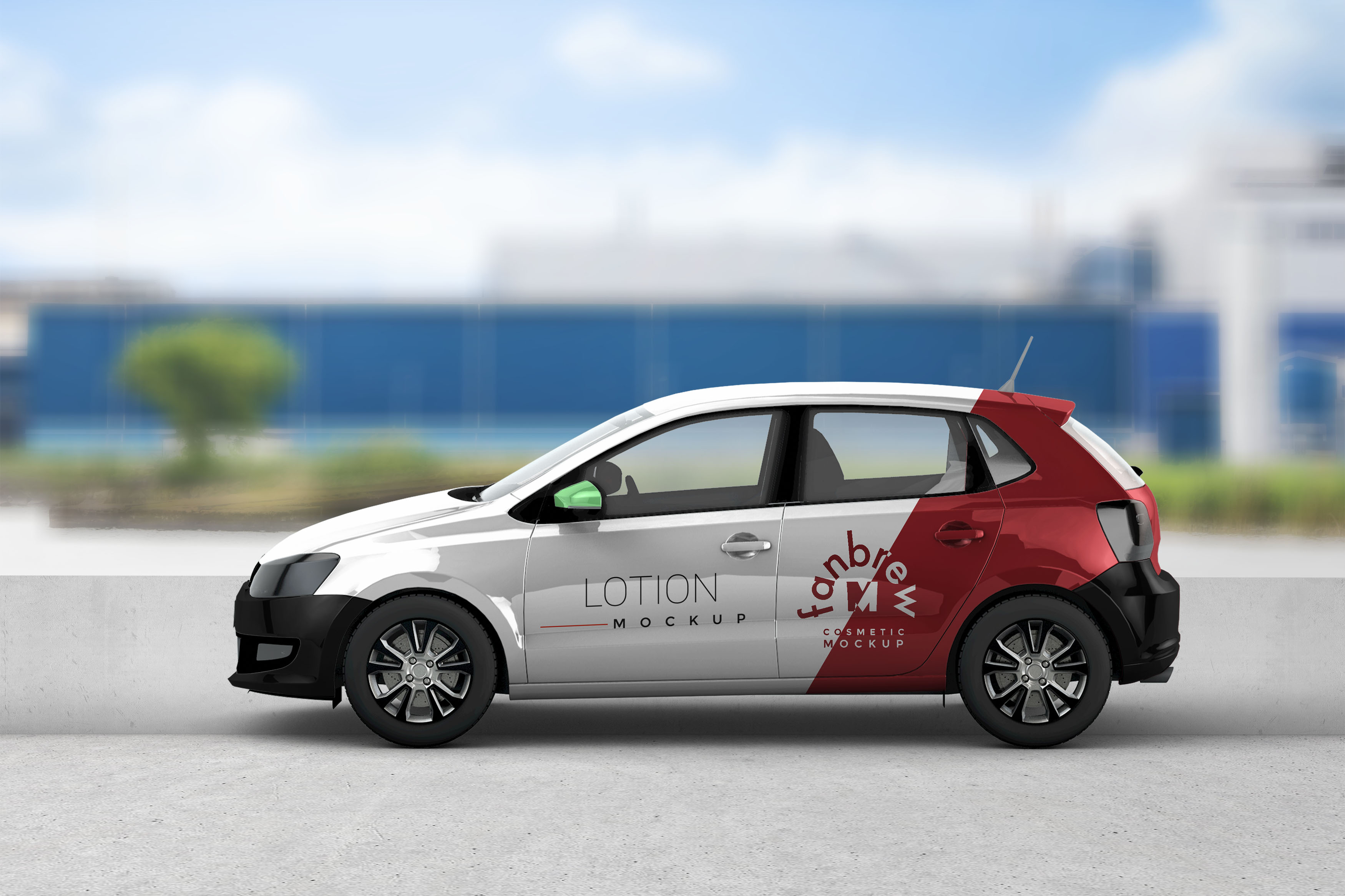 New Indica Car Wrap Mockup