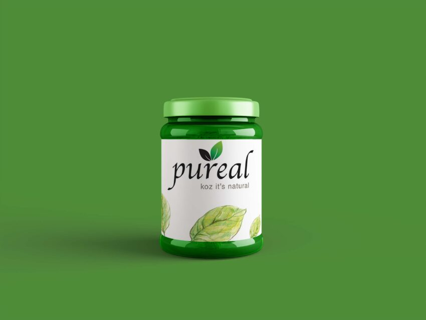 New Pineapple Jam Jar Label Mockup