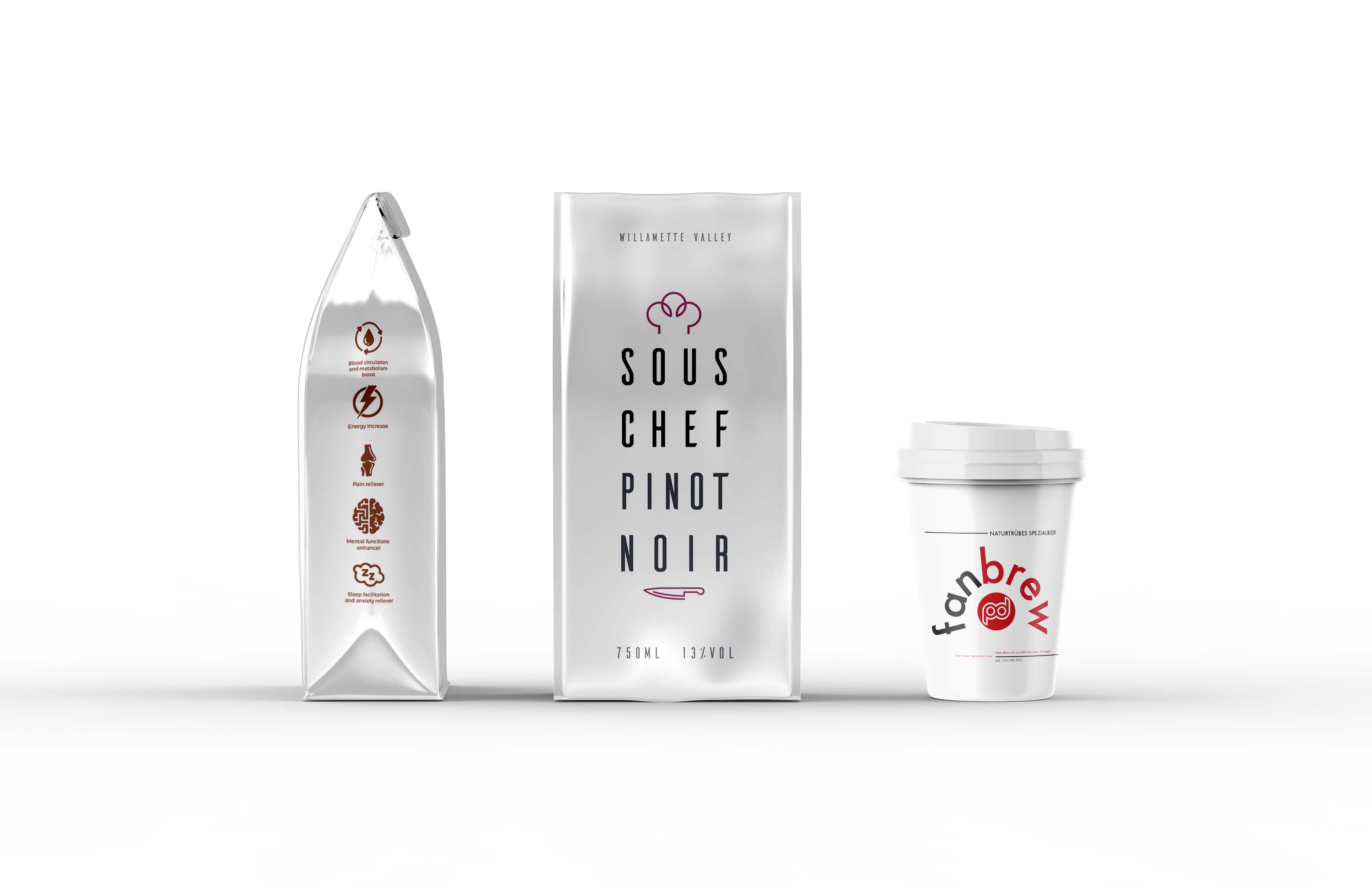 New Silver Packaging Label Mockup