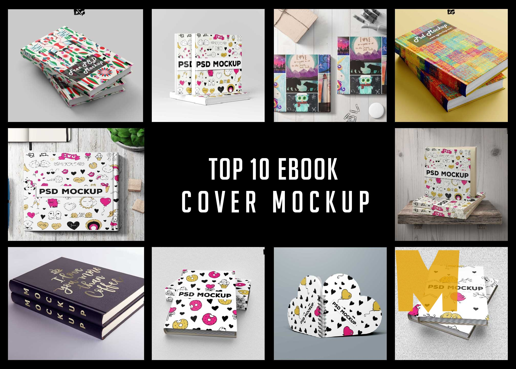 Top 10 Ebook Cover Mockup