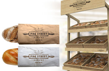 Free Bread Packaging Mock-up For Presentation