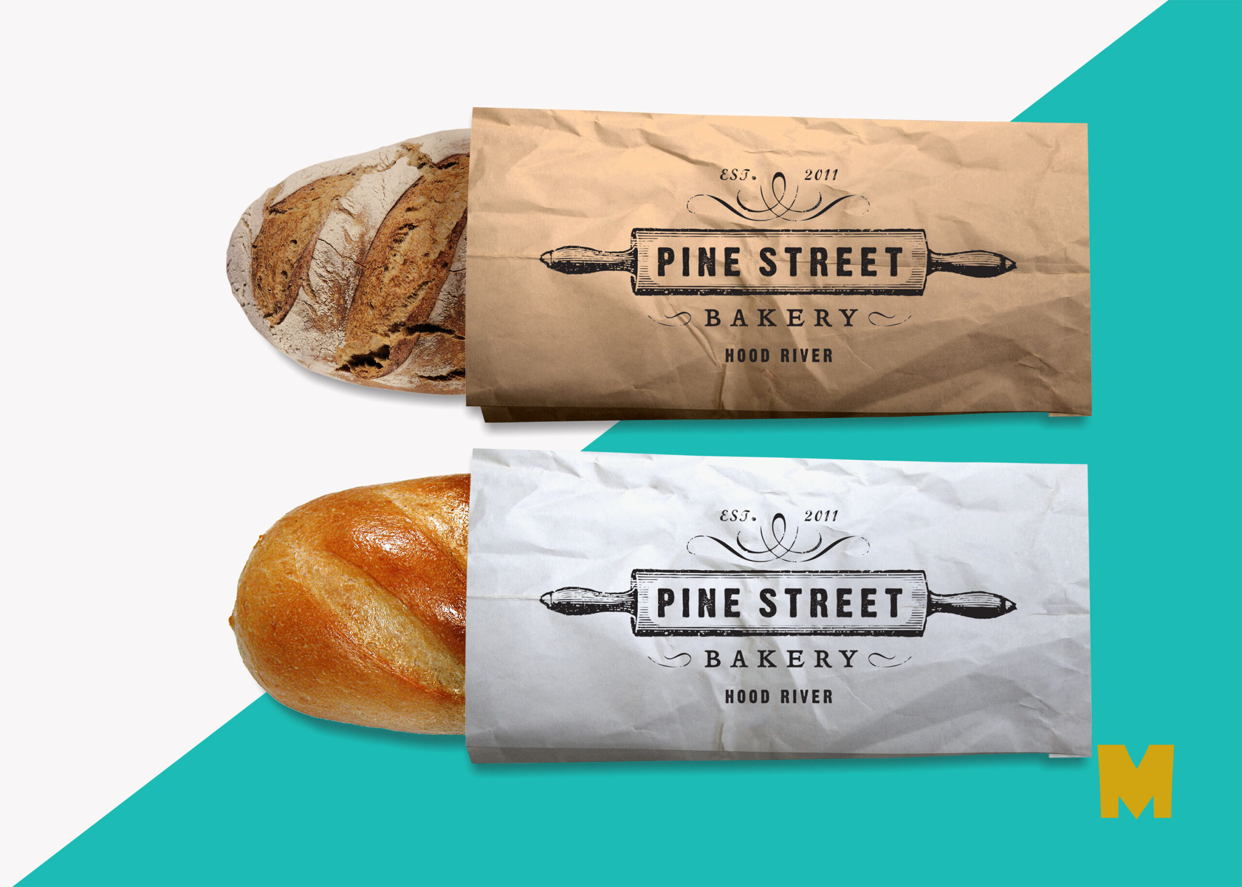 Free Bread Packaging PSD Label Mock-up
