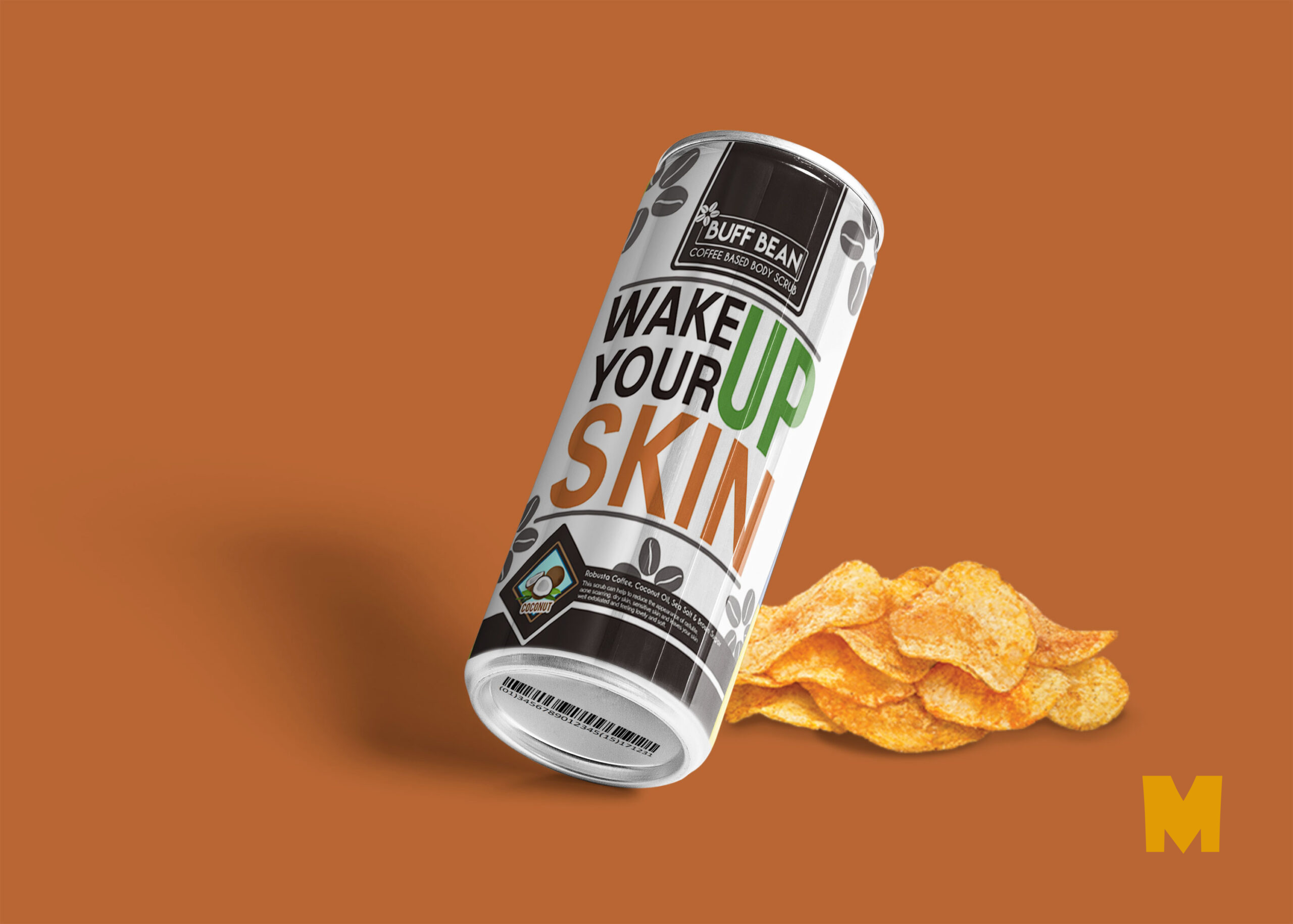 Free PSD Beer Can Label Mockup