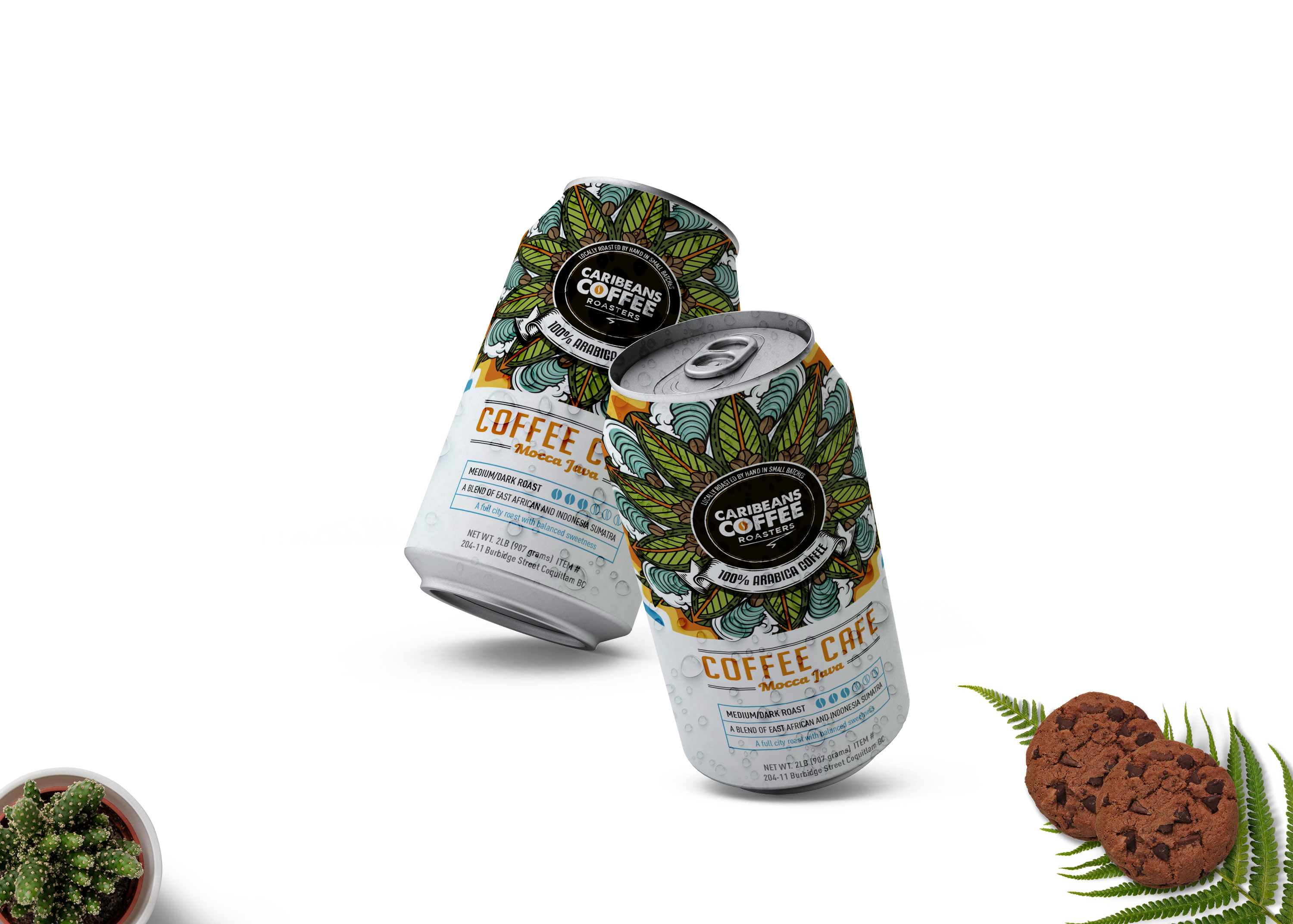 Matte Coffee Soft Drink Can Mockup