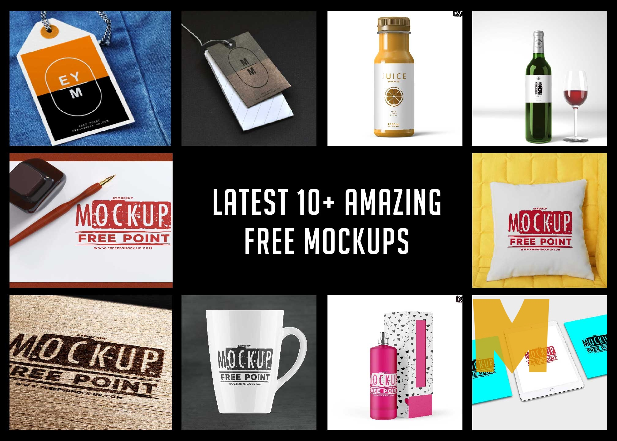 Latest 10+ Amazing Free Mockups