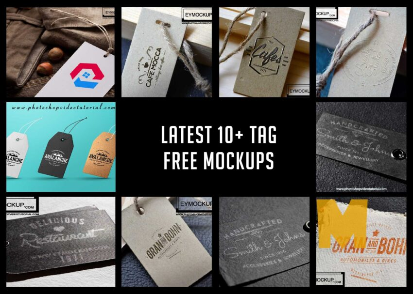 Tag Mockup For Any Graphic Designer 2017