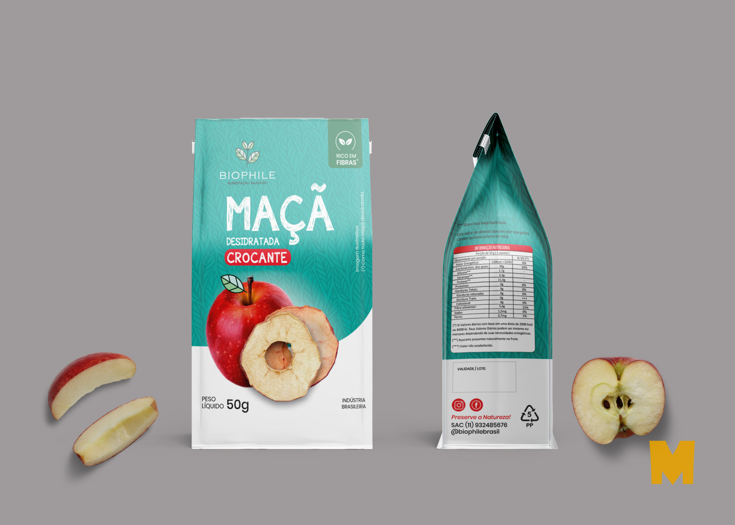 Apple Powder Pouch Mockup