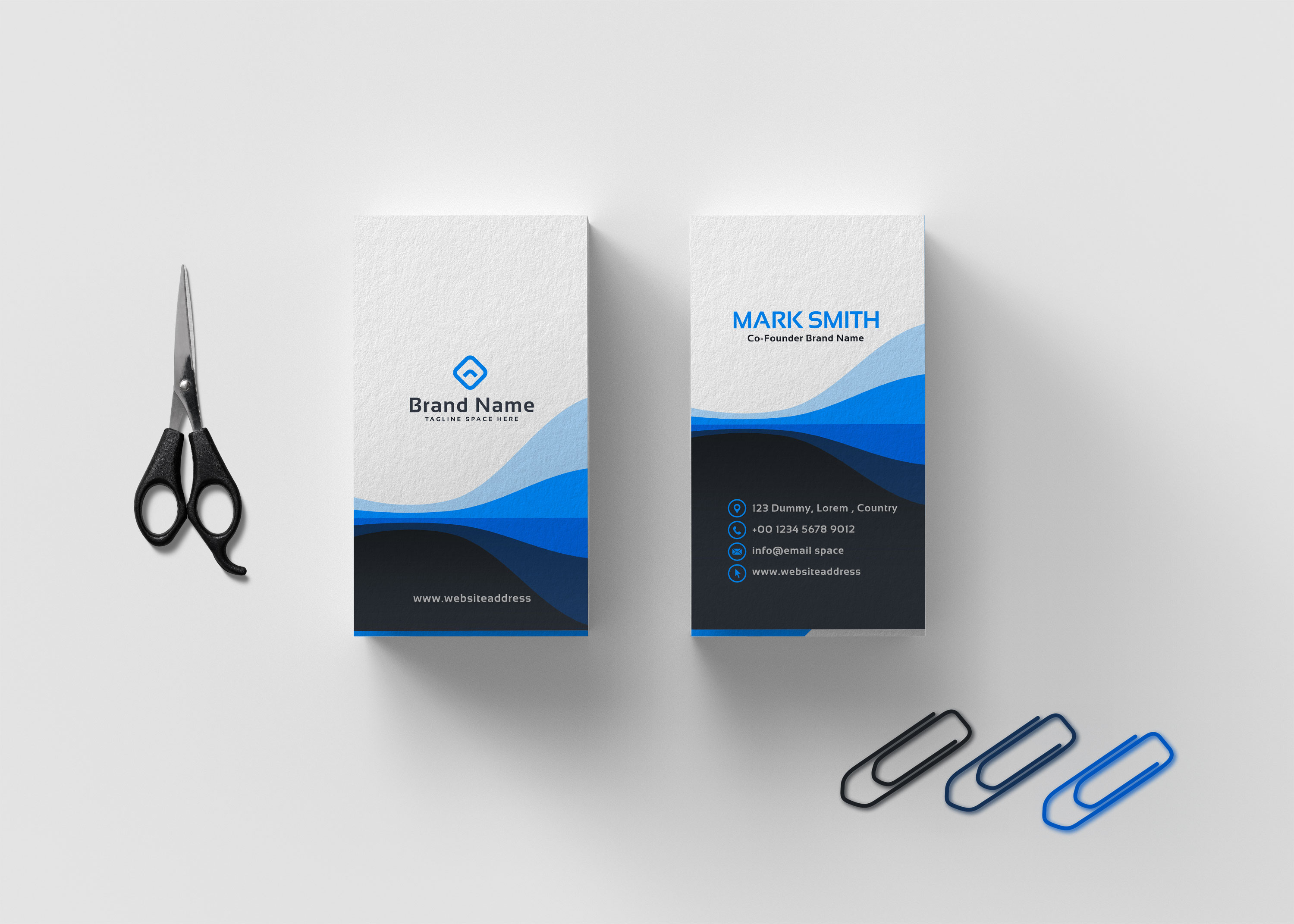 Elegant Luxury Business Card Mockup