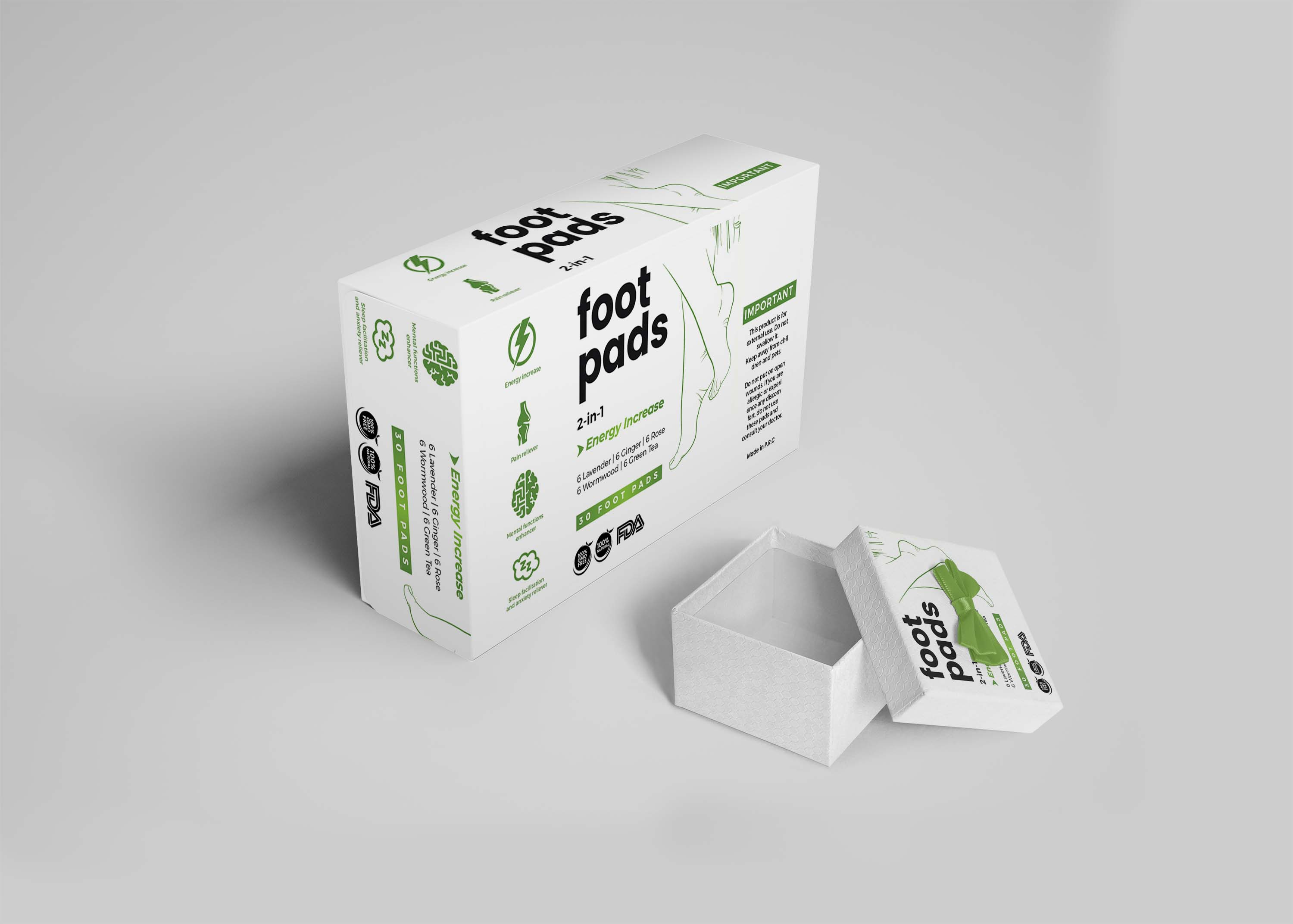 Foot Care Pads Mockup