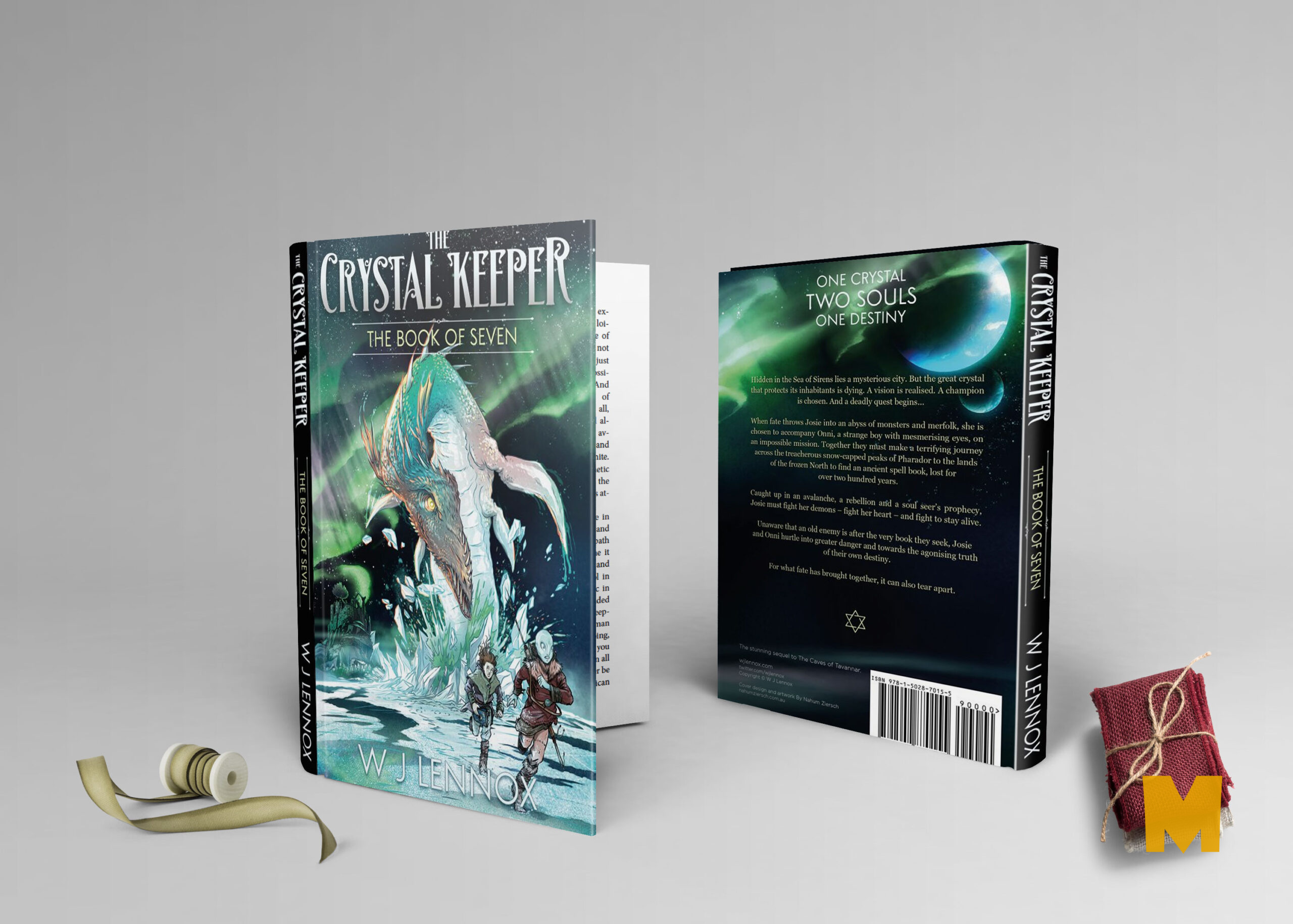 Front Back Book Cover Mock Up