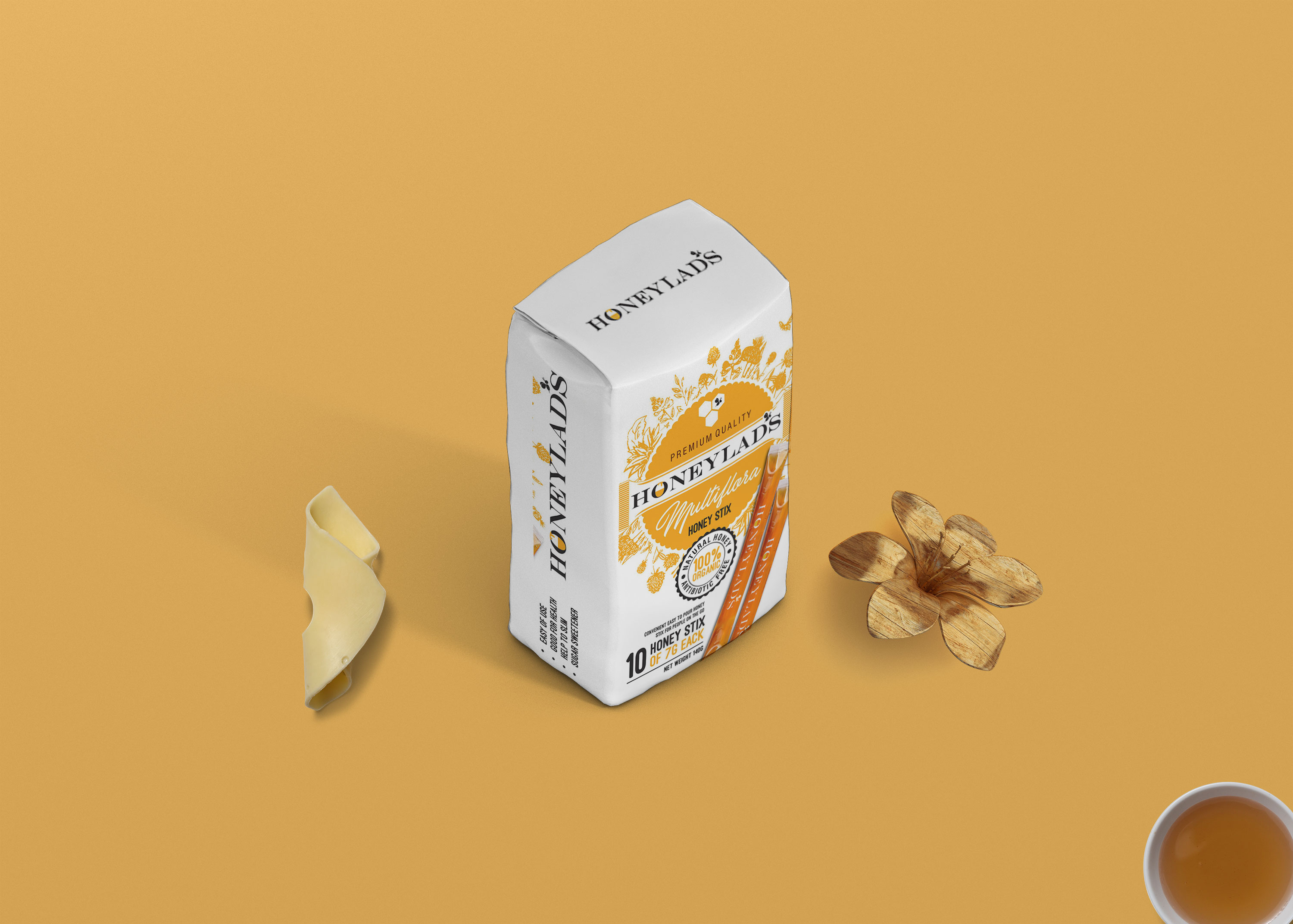 Free Honey Packaging Pouch Mock Up