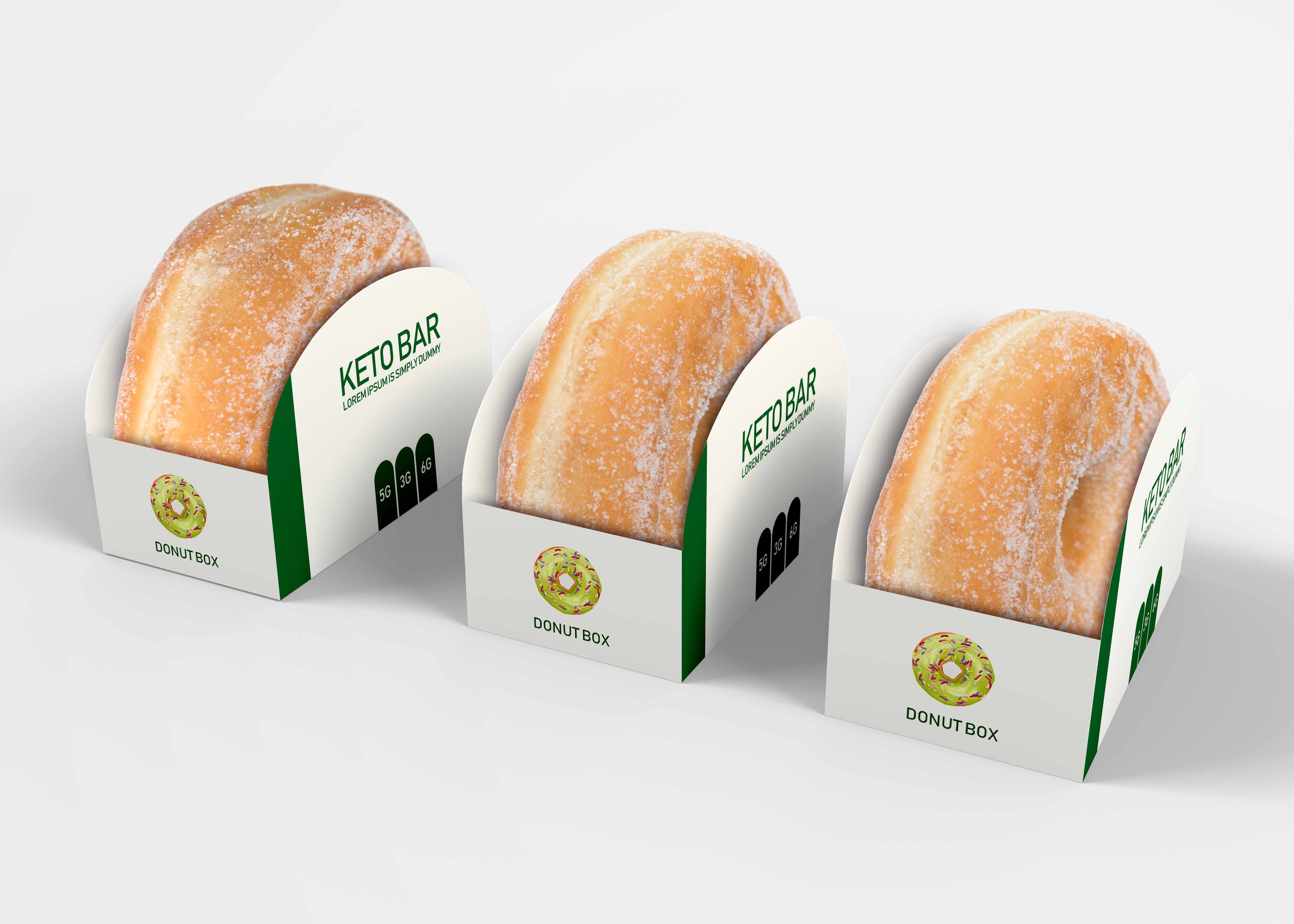 Donut Box Carton Box Mock Up