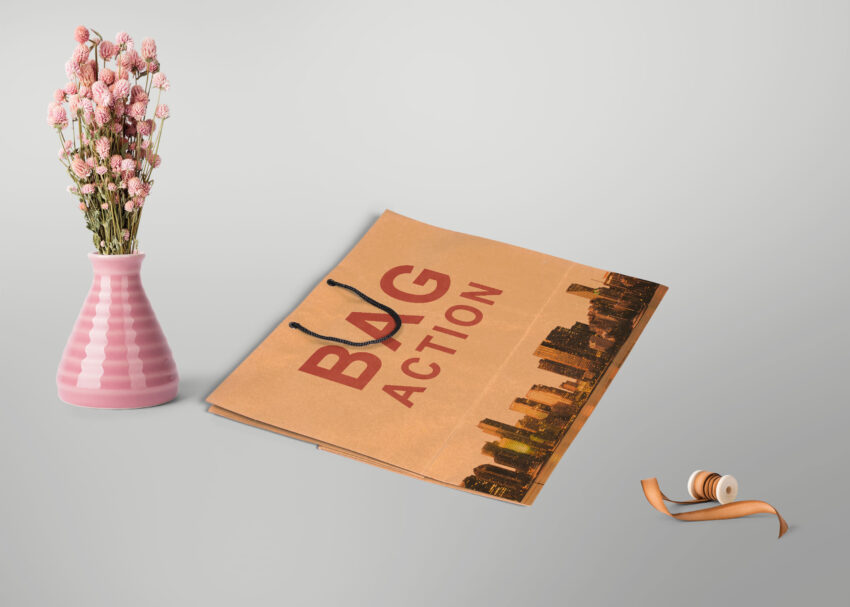 Pink Shopping Bag Mockup