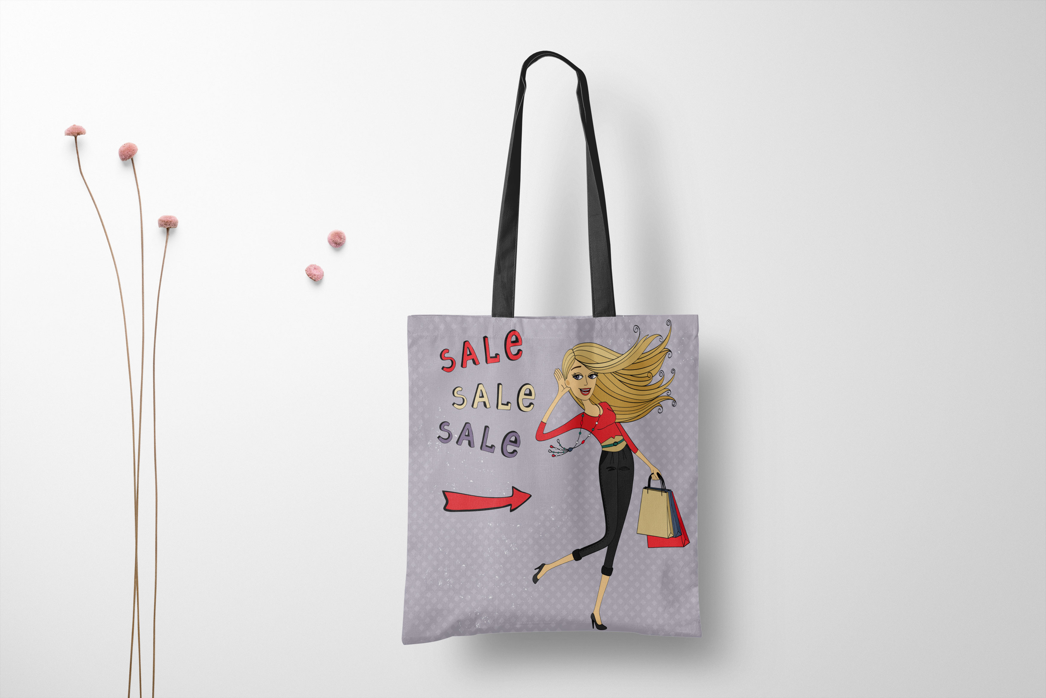Shopping Tote Bag Mockup