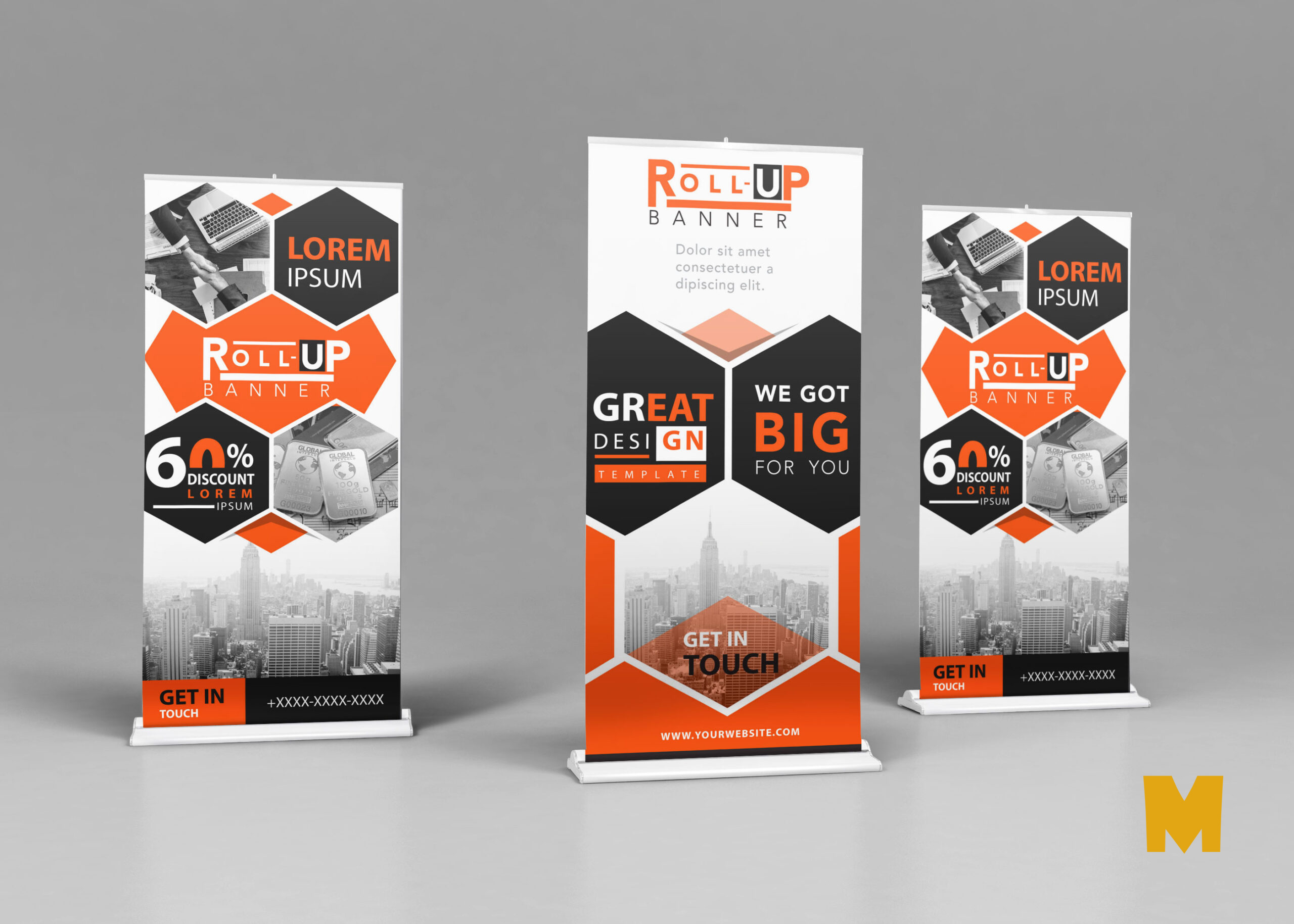 Stand Up Banner Mockup