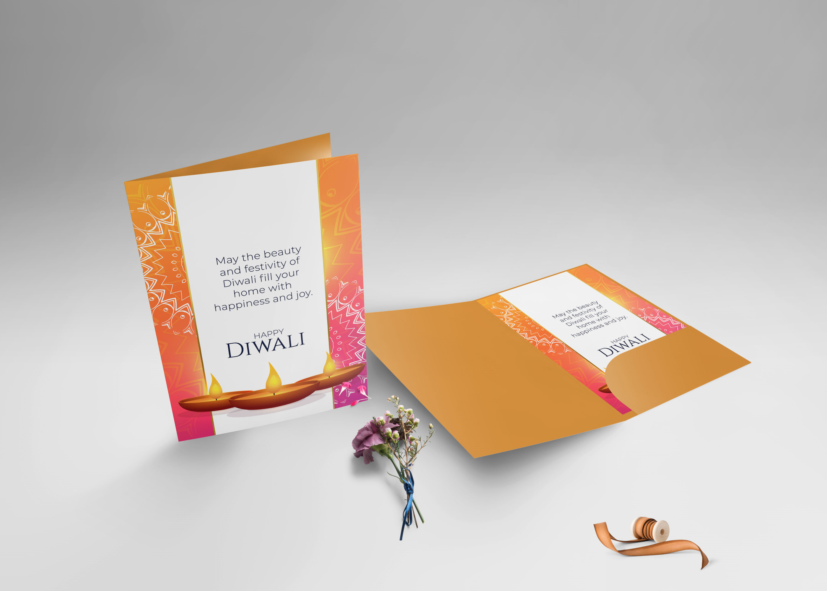 Standing Greeting Card Mockup