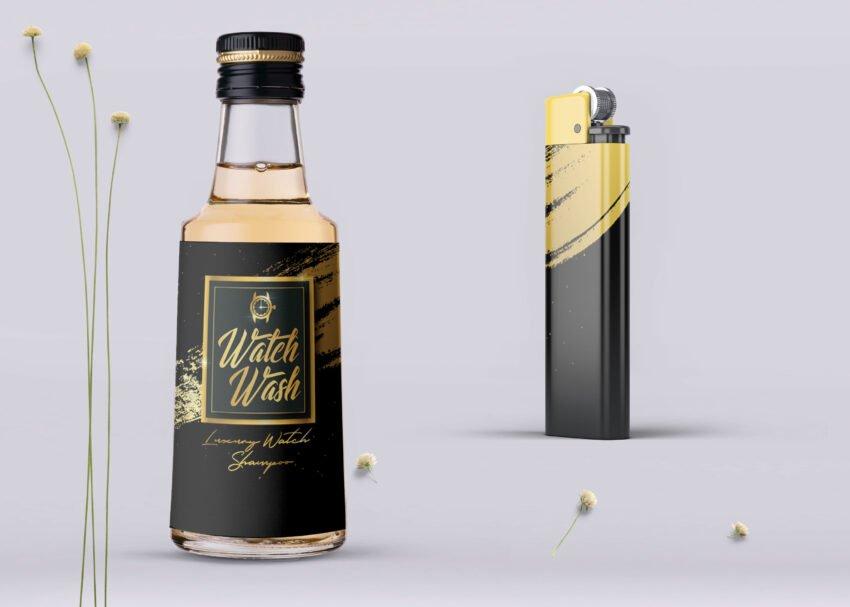 Luxury Lighter Bottle Mockup