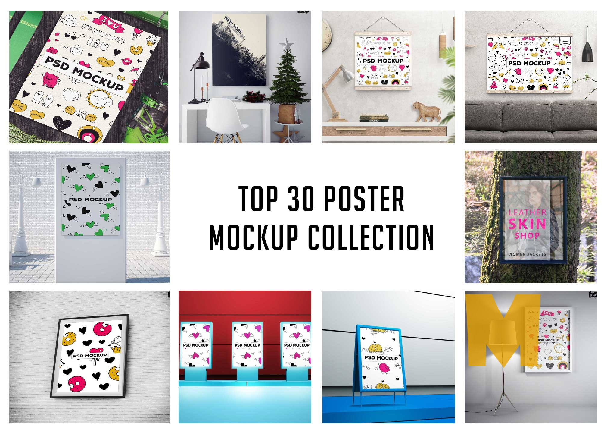 Top 30 Poster Mockup Collection