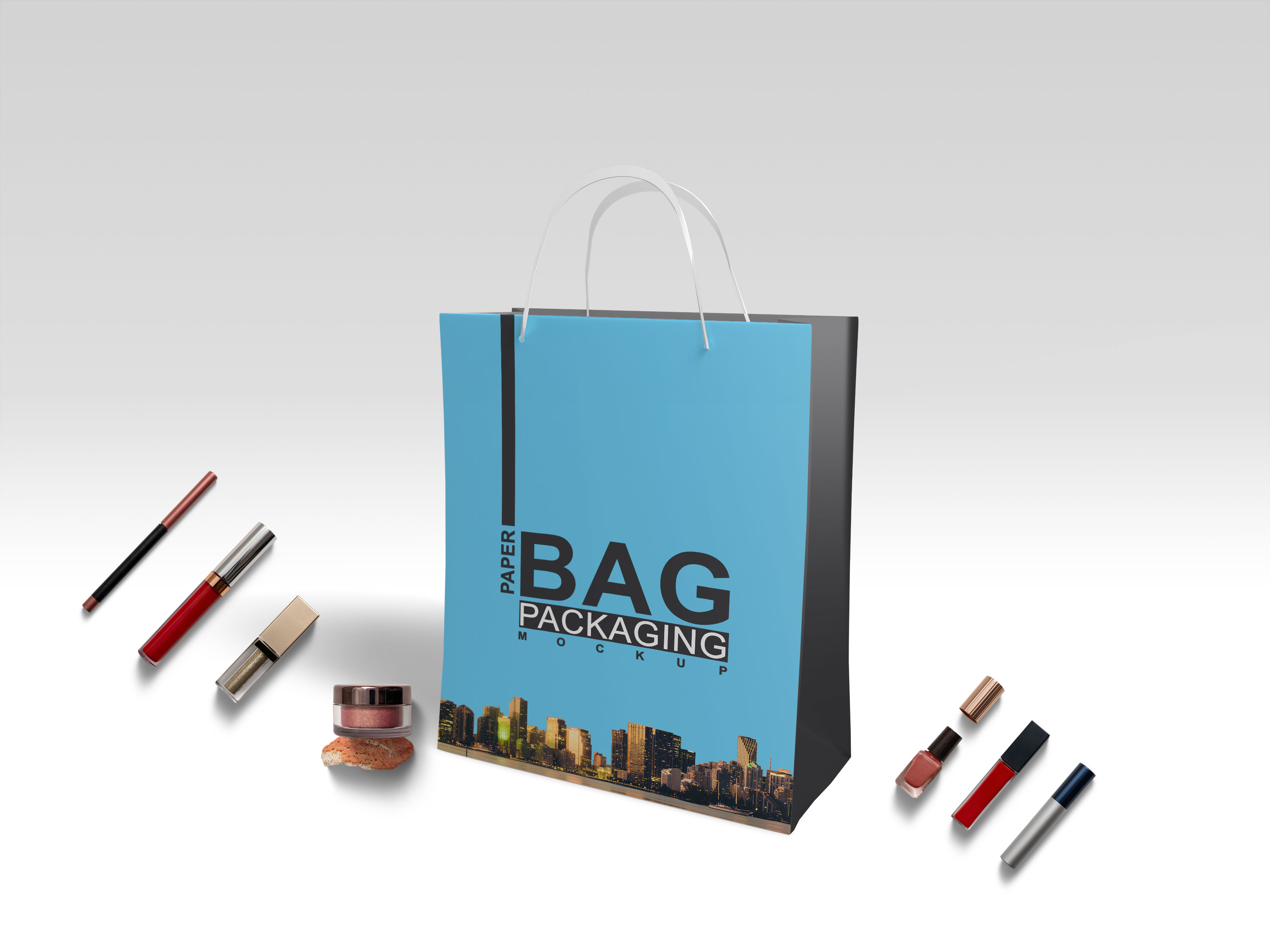 Premium Carrier Bag Mockup