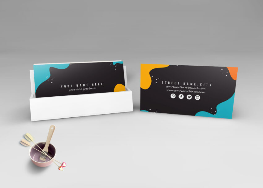 Realistic Visiting Card Mockup