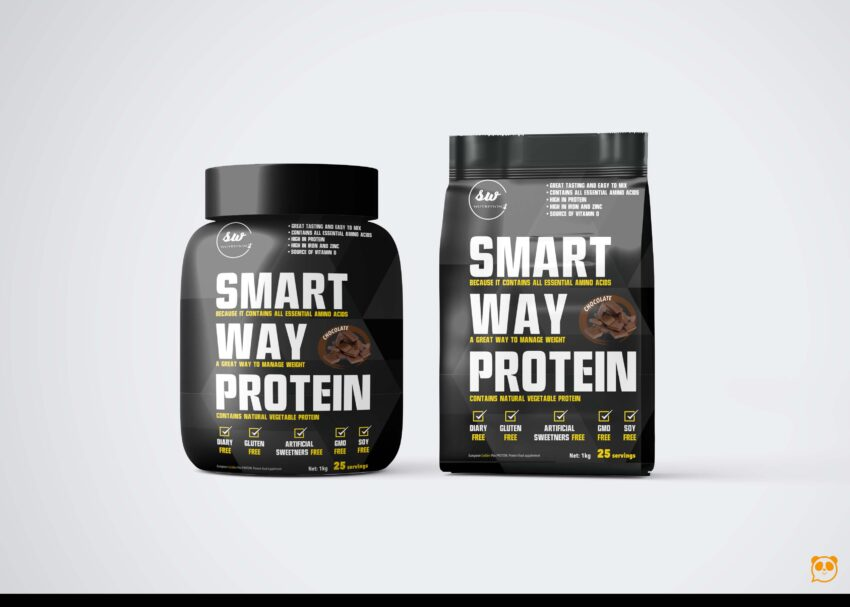 supplement Smart Protein Packaging Mockup
