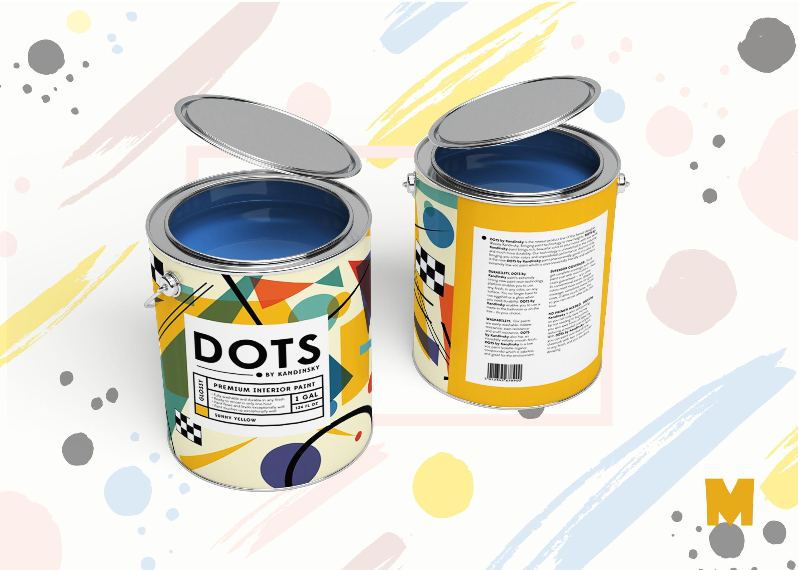 Steel Paint Can Mockup