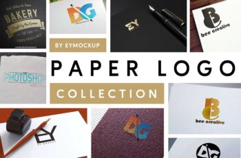 Latest 10+ Paper Logo Mockups