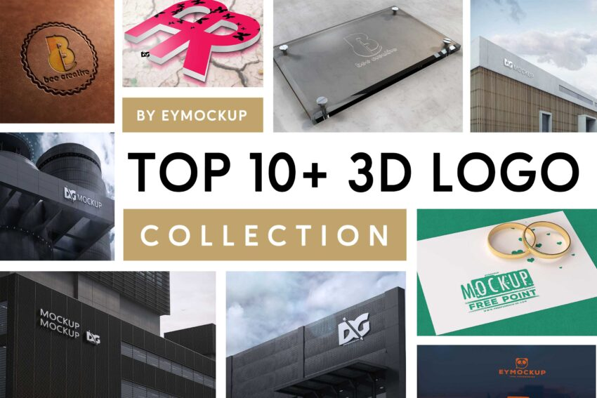 Top 10+ 3D Logo Mockup For Presentation