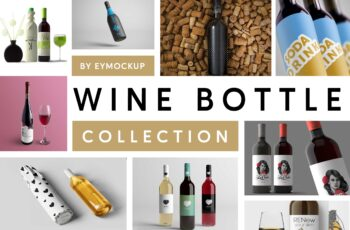 Top 10+ Awesome Wine Bottle Mockups