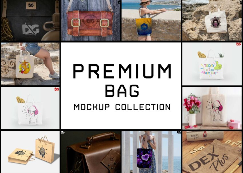 Top 20 Shopping Bag Mockup Collection