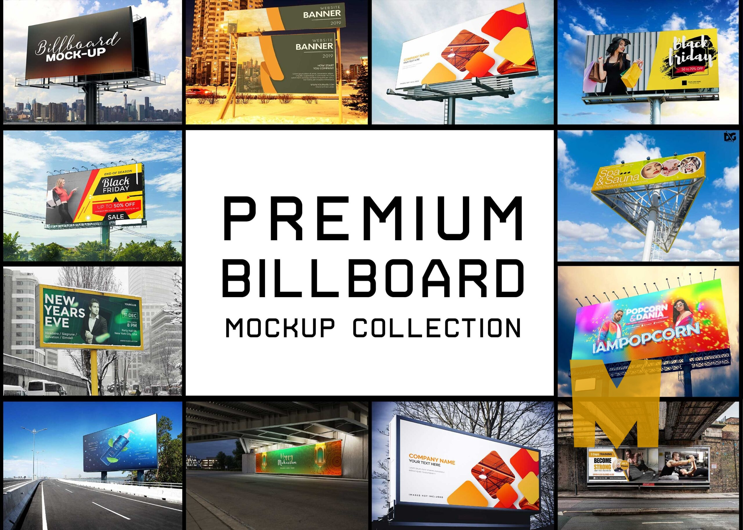 Top 20 Billboard Mockup Collection