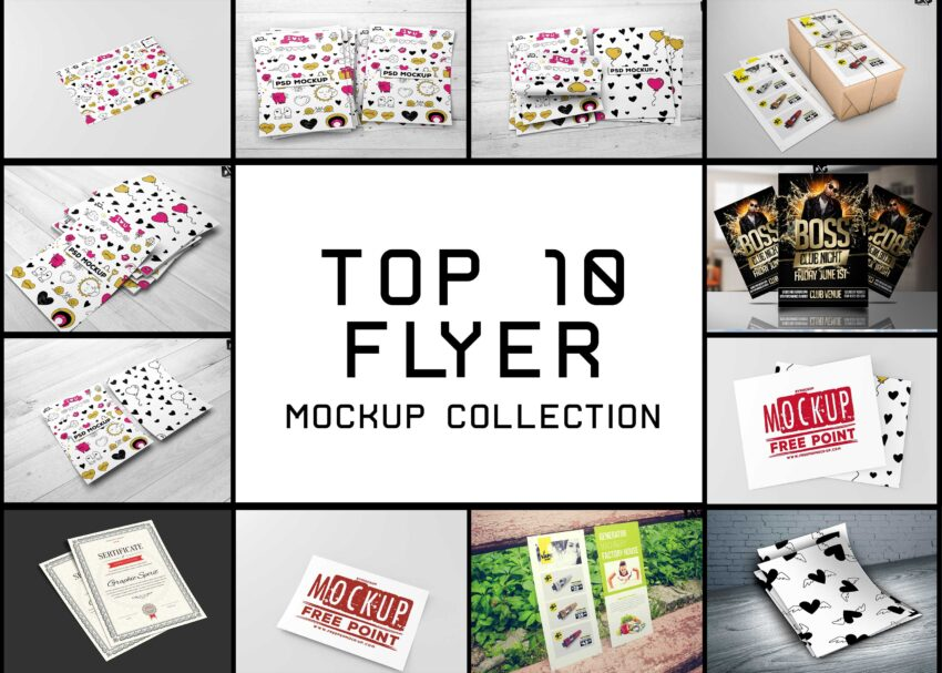 Top 10 Flyer Mockup Collection