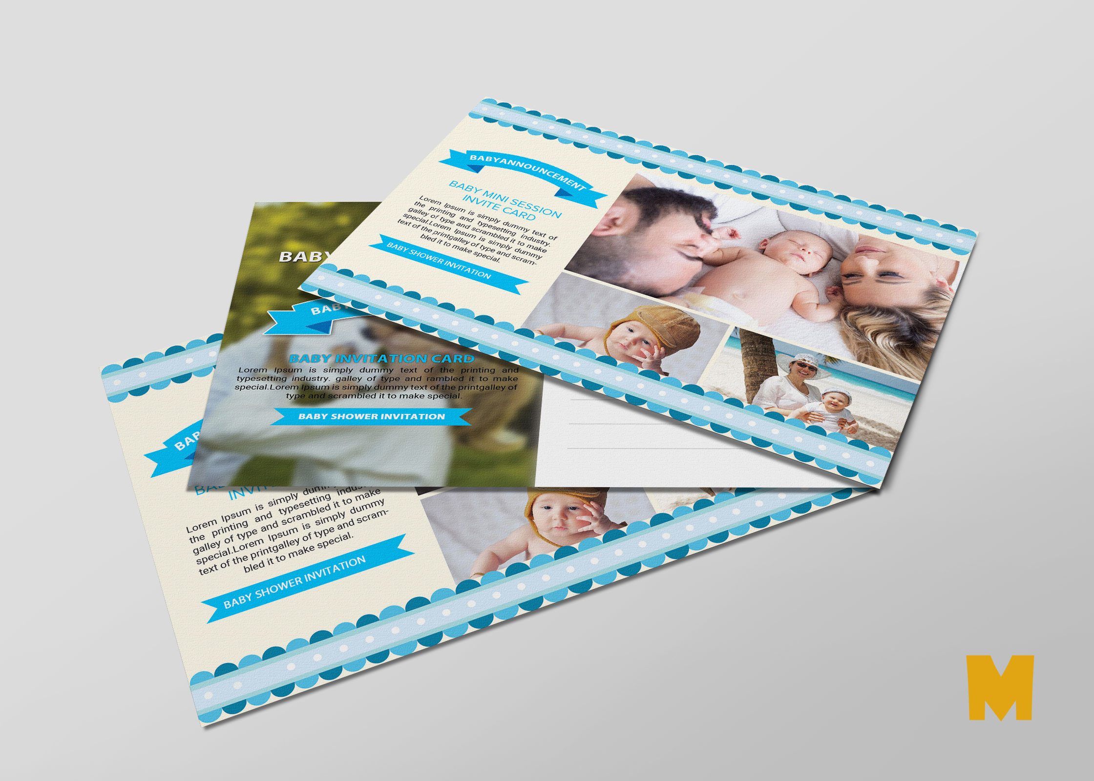 Announcement Postcard PSD Design Template