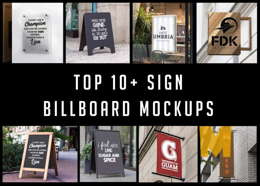 Top 10+ Sign Billboard Mockups