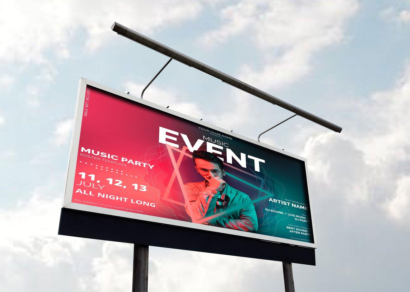 Road Billboard Mockup