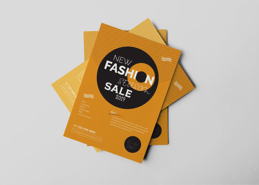 Clothing Flyer Design Template