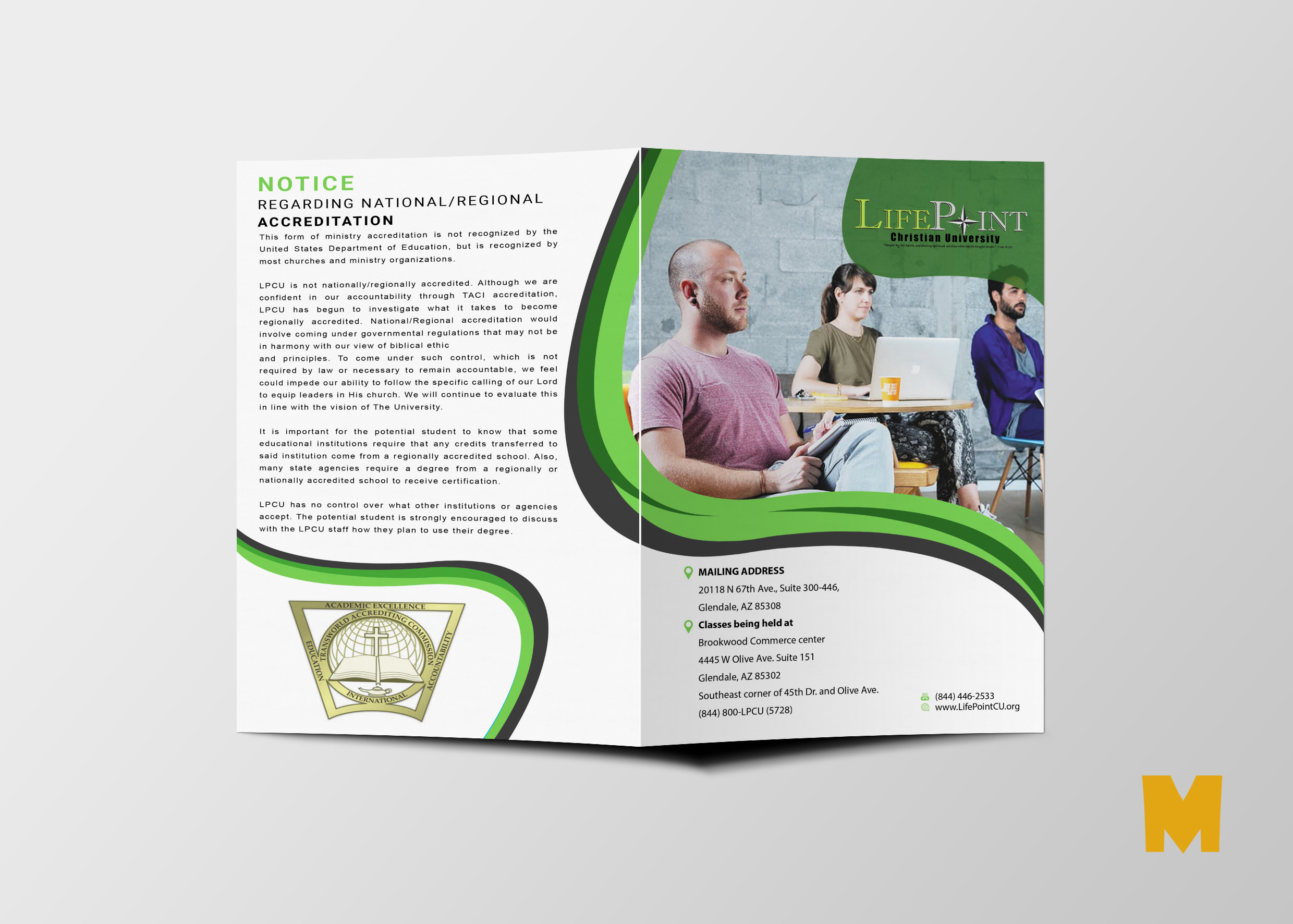 Bi-Fold Brochure Design Template