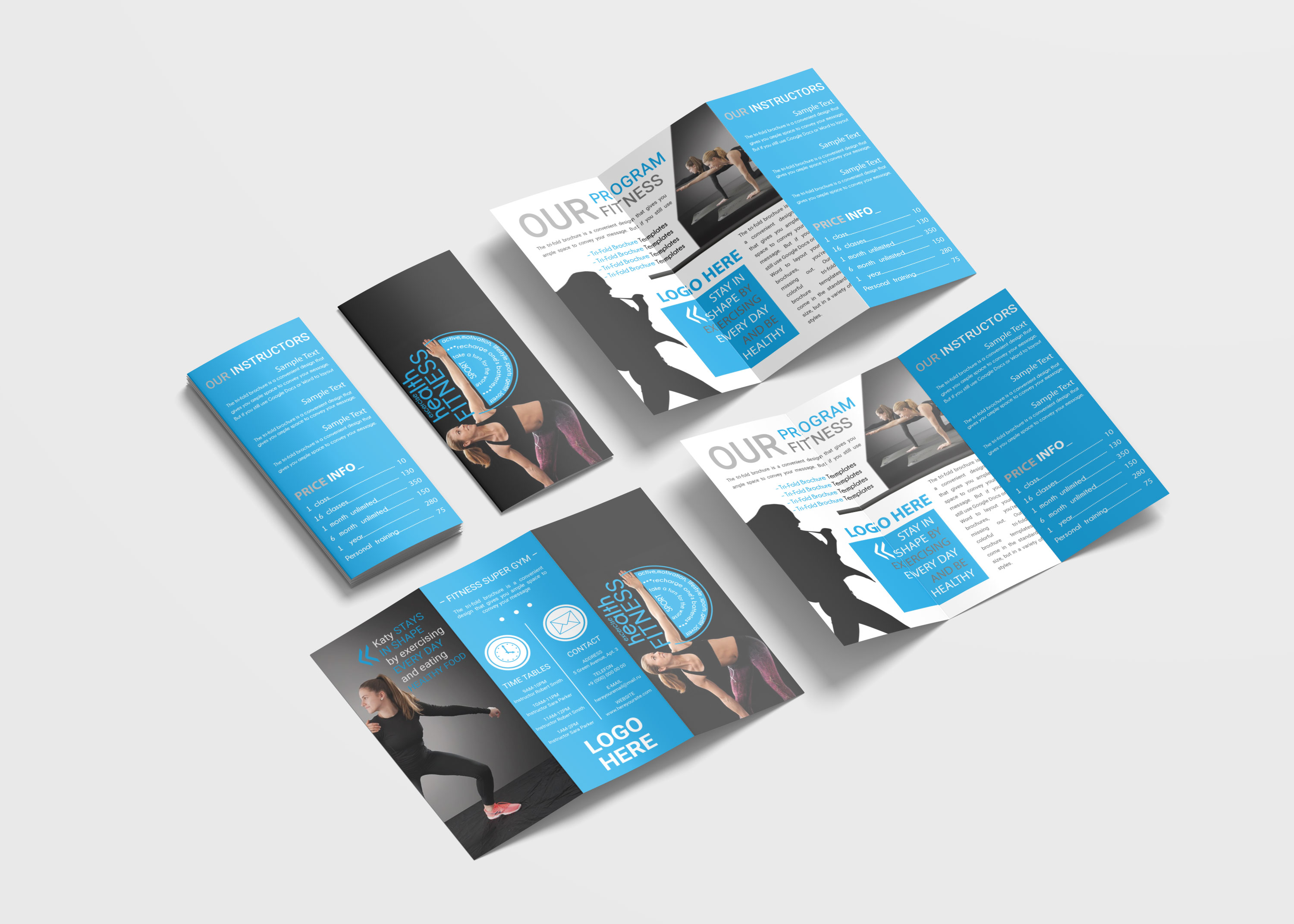 Fitness Tri-Fold Brochure Design