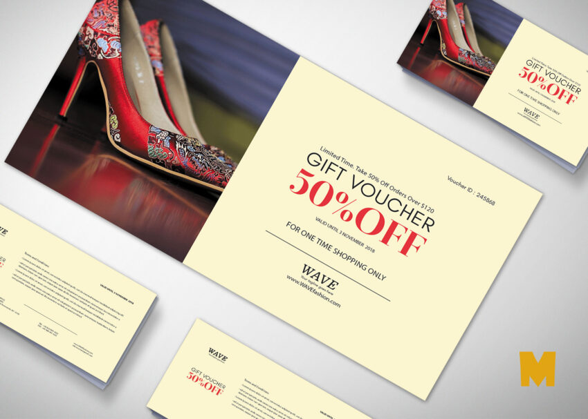 Foot Wear Voucher Design Template