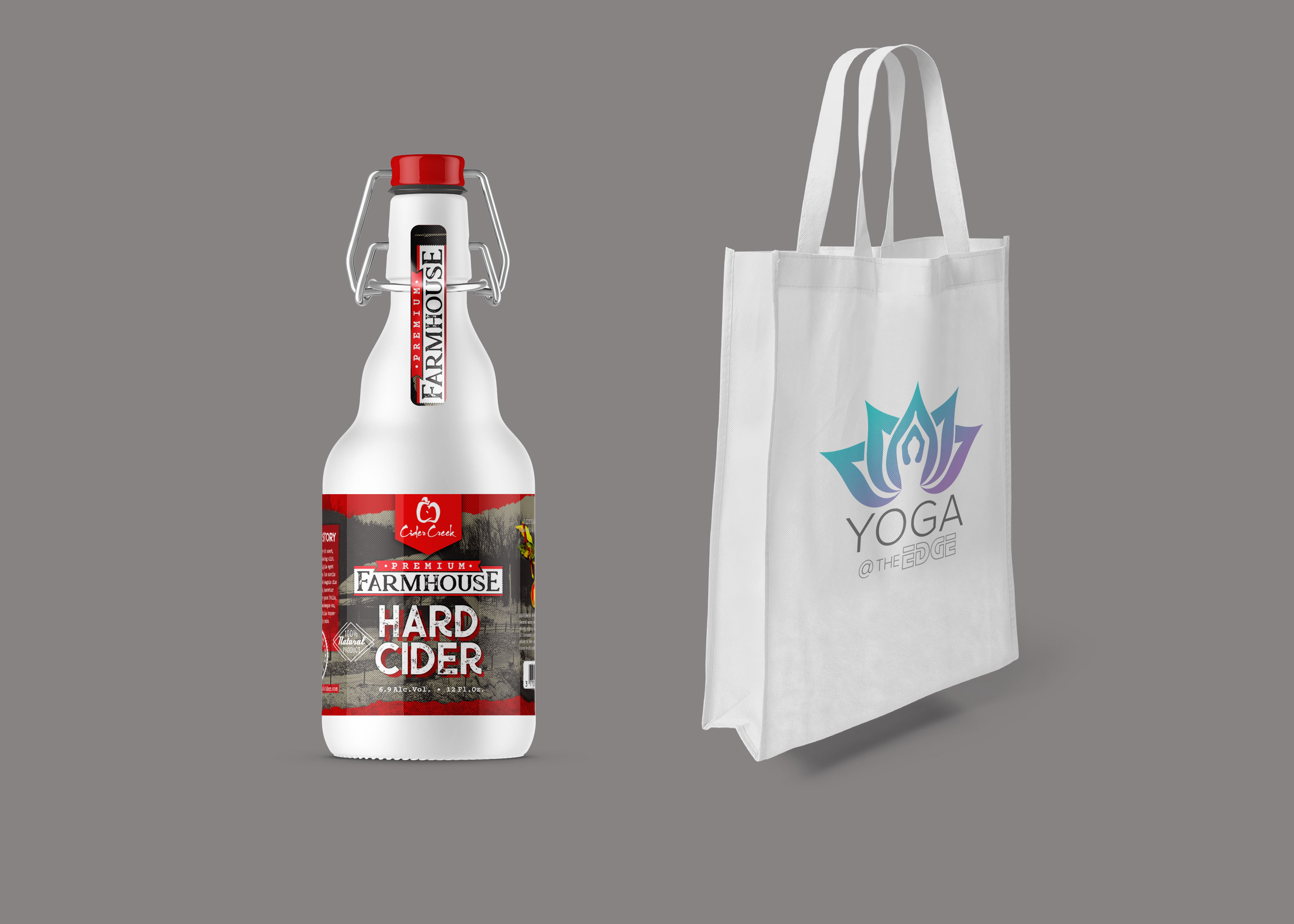 Beer Bottle Bag Mockup