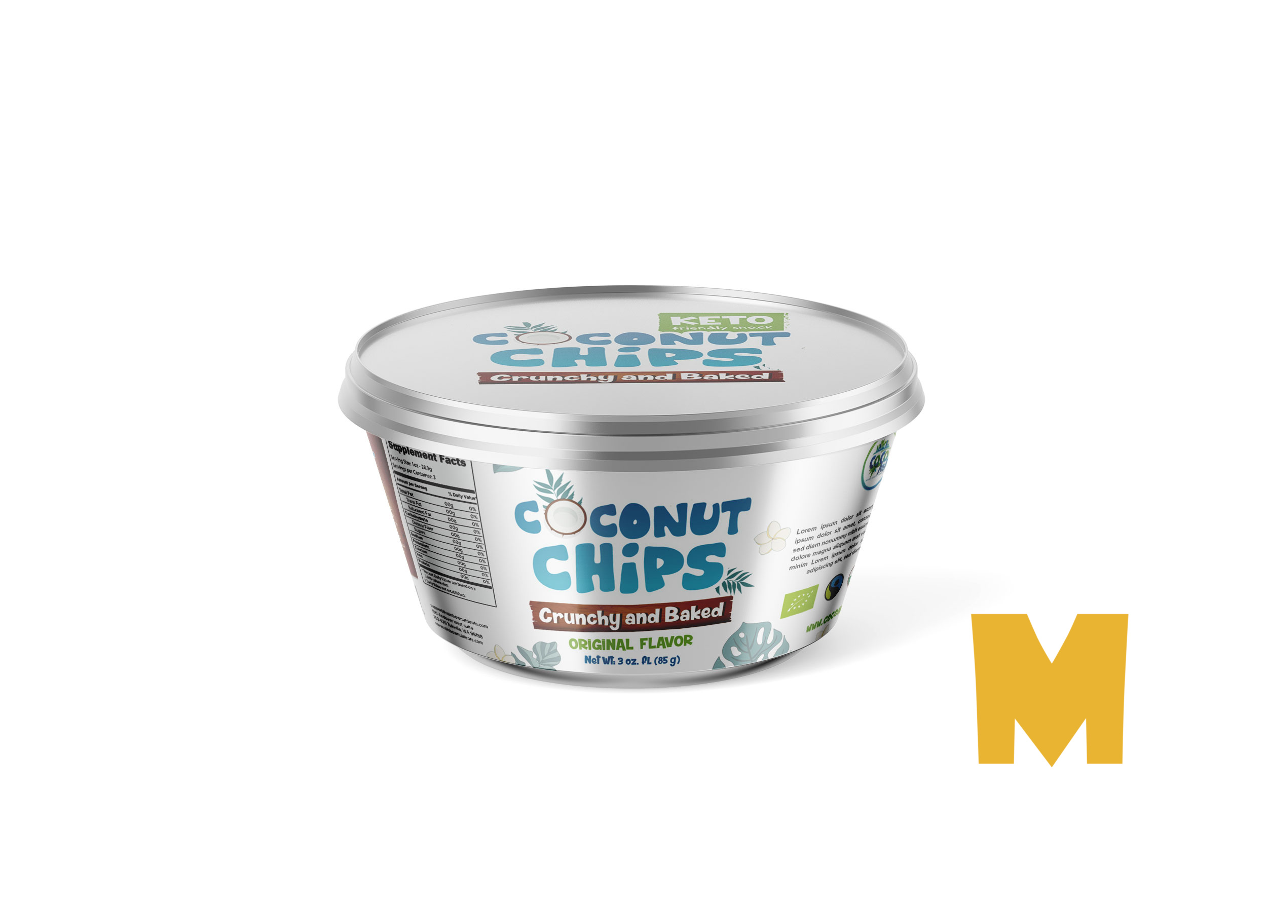 Chocolate Chips Bowl Mockup