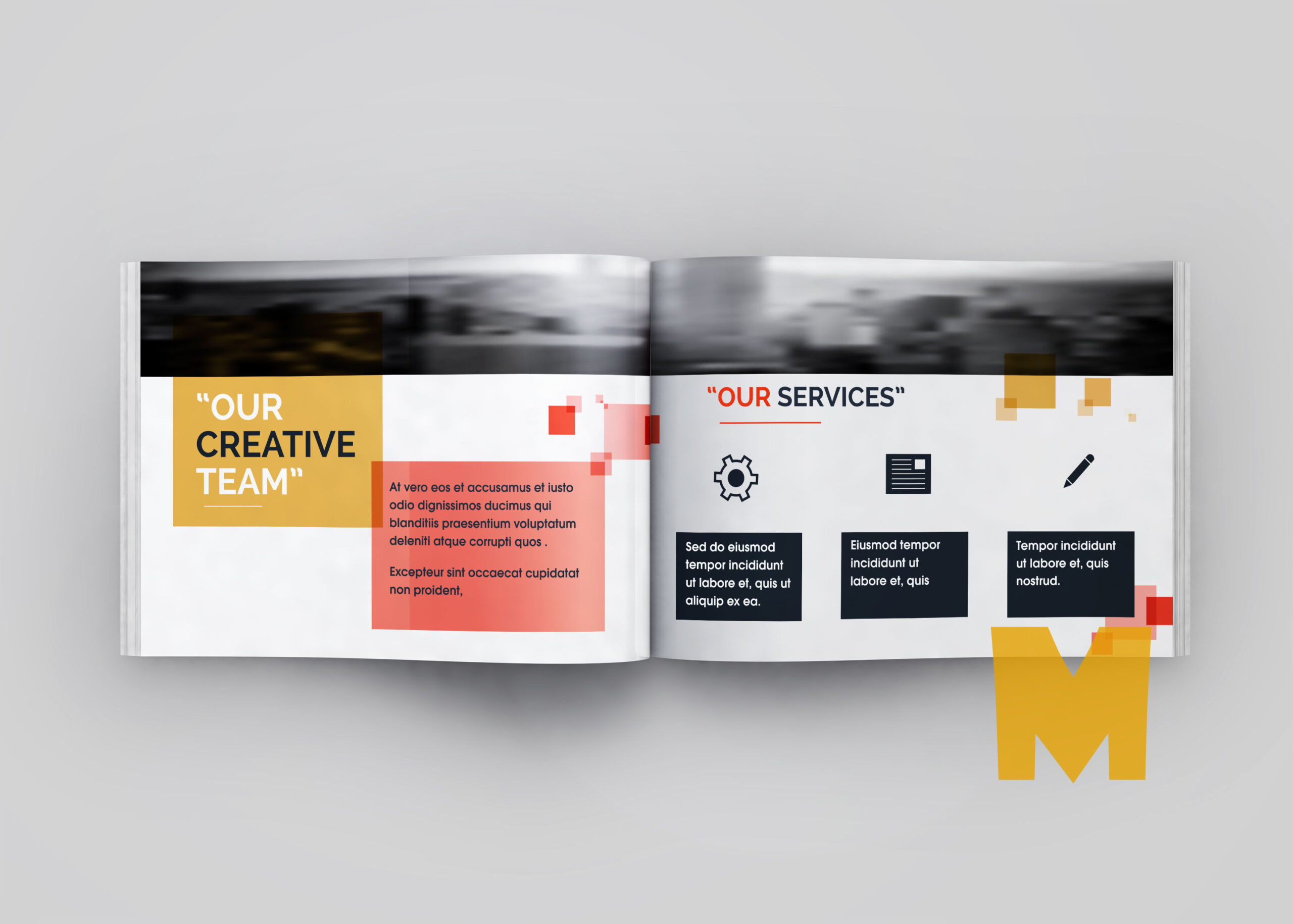 Company Profile Catalogue Mockup
