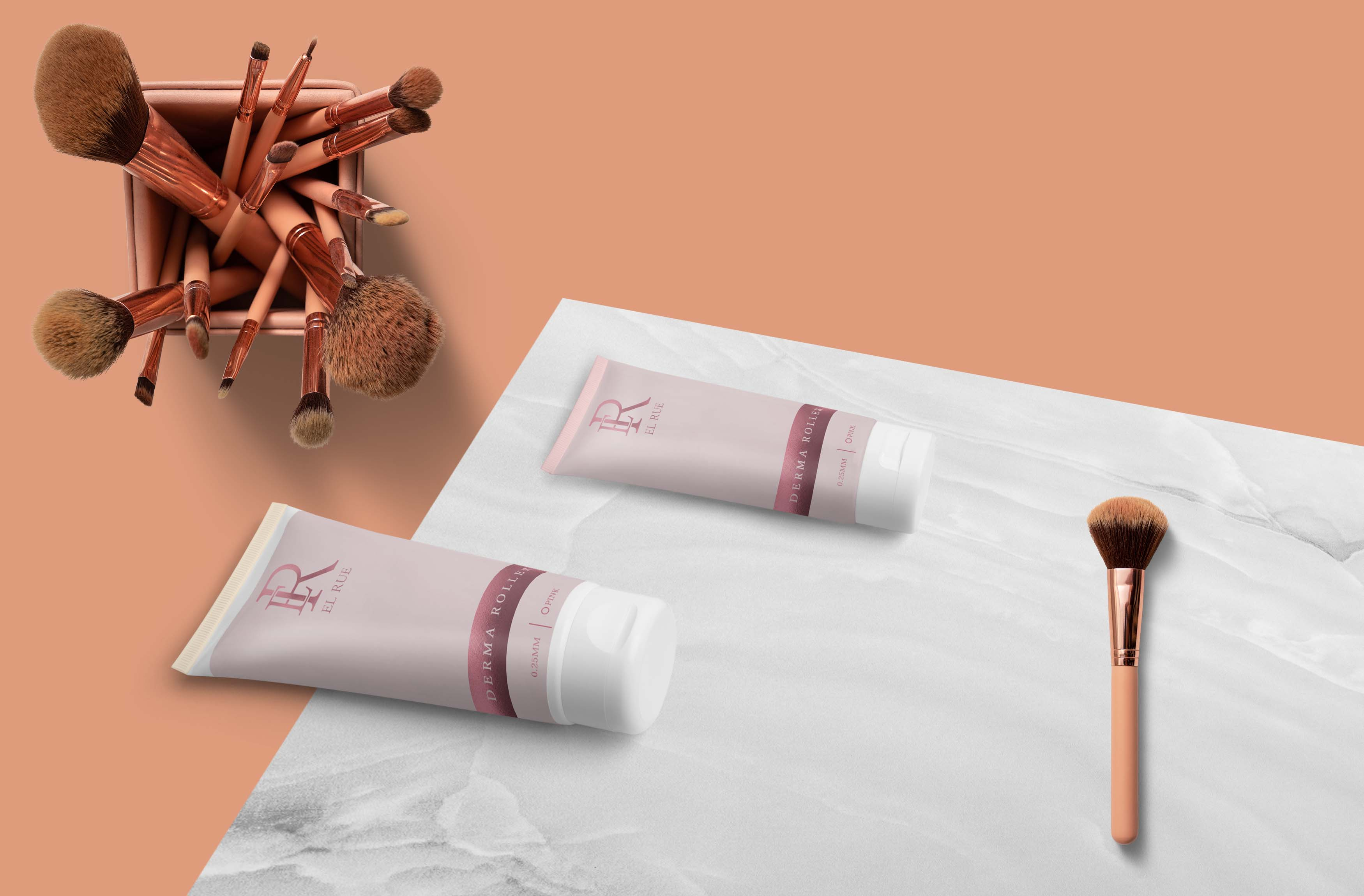 Cosmetic Cream Tube Mockup