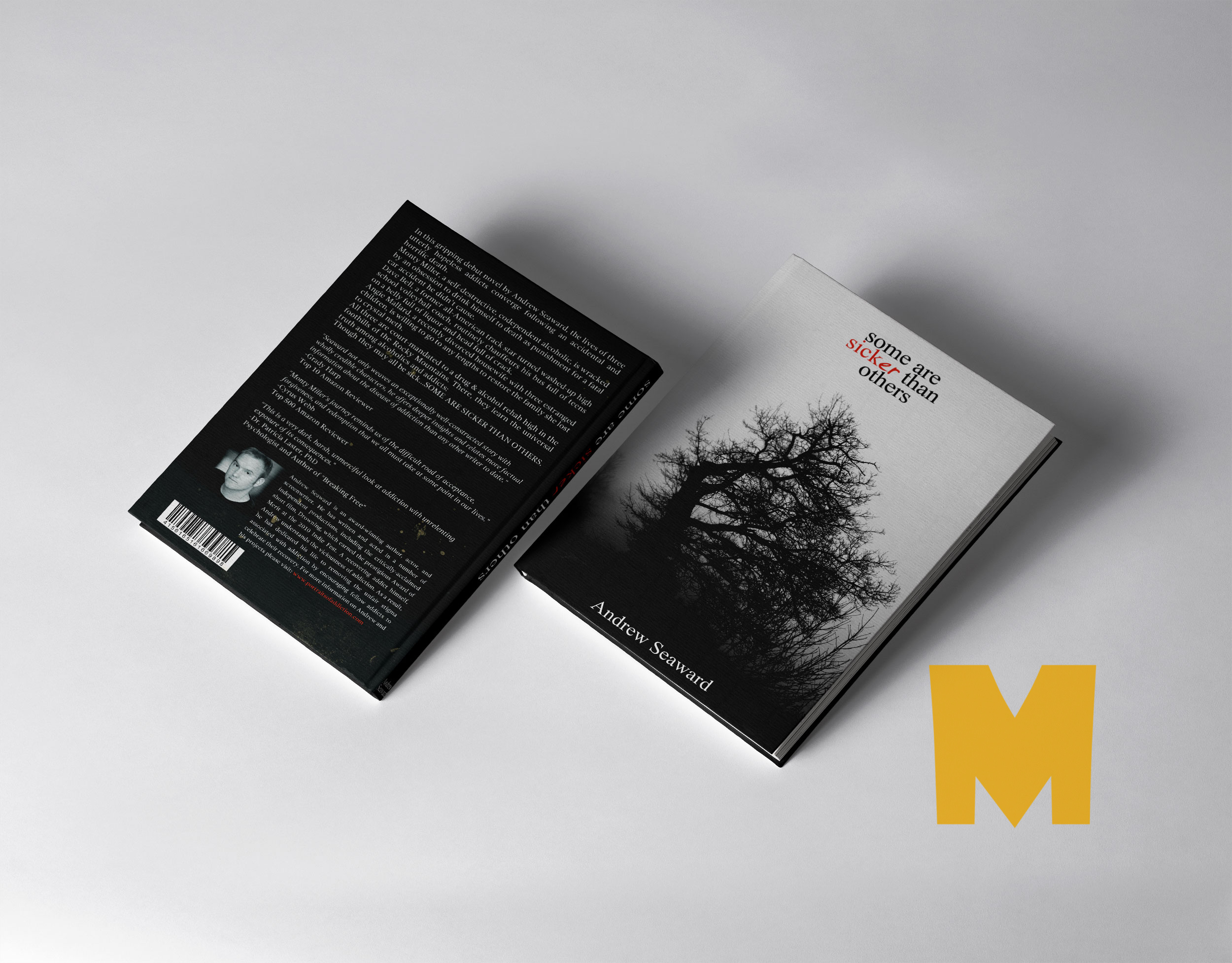 Front Back Book Cover Mockup