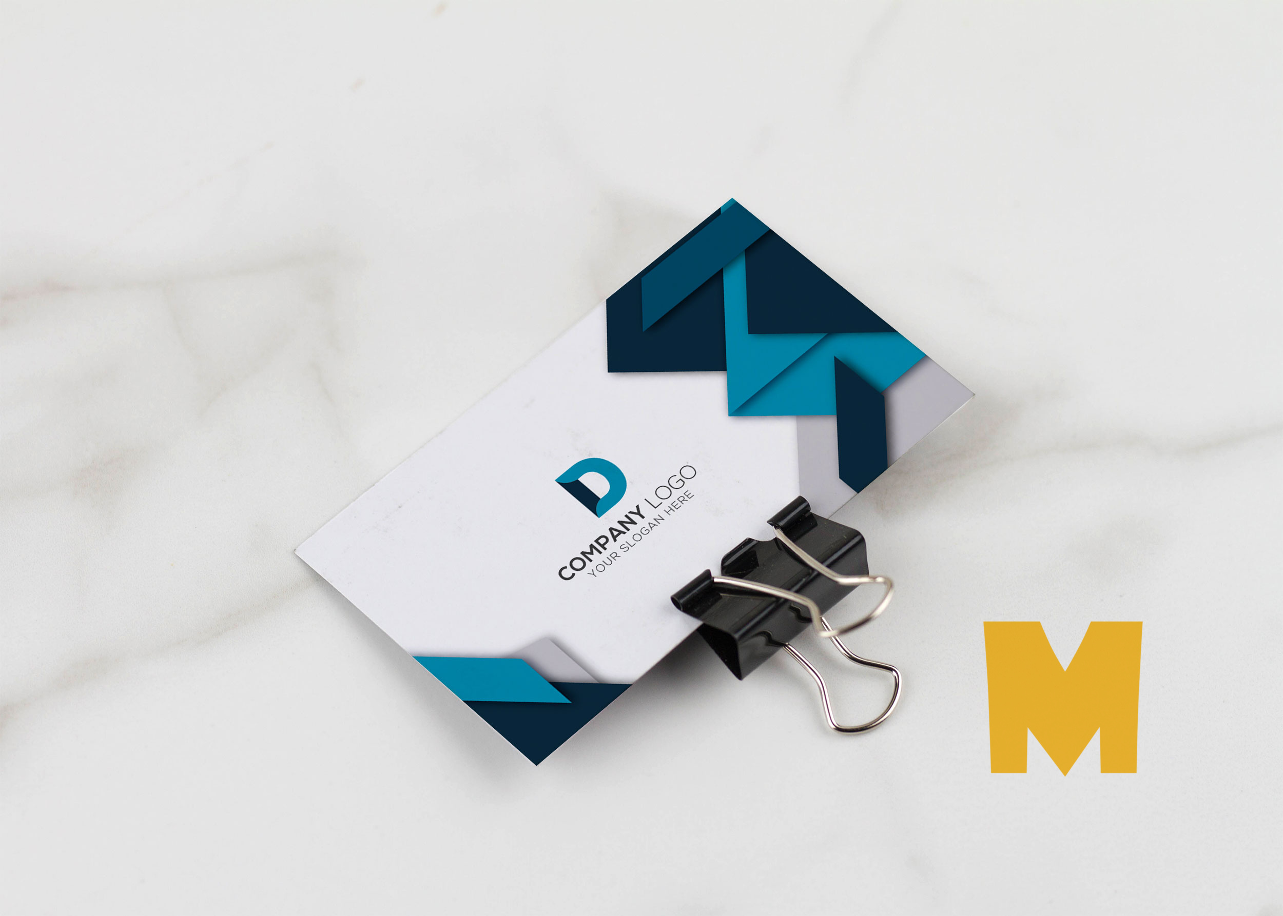 Free Look Business Card Mockup