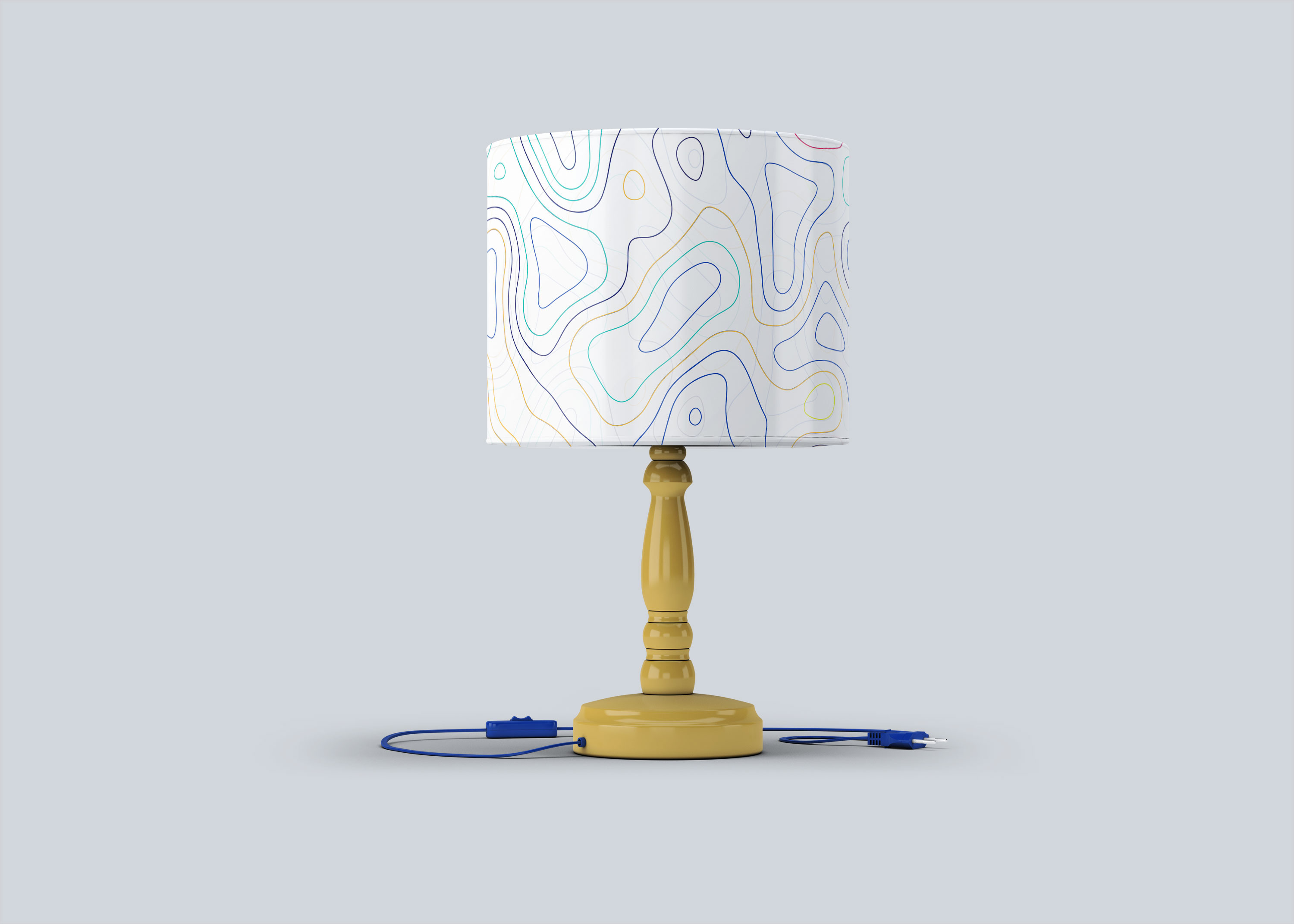 Night Room Table Lamp Mock-up