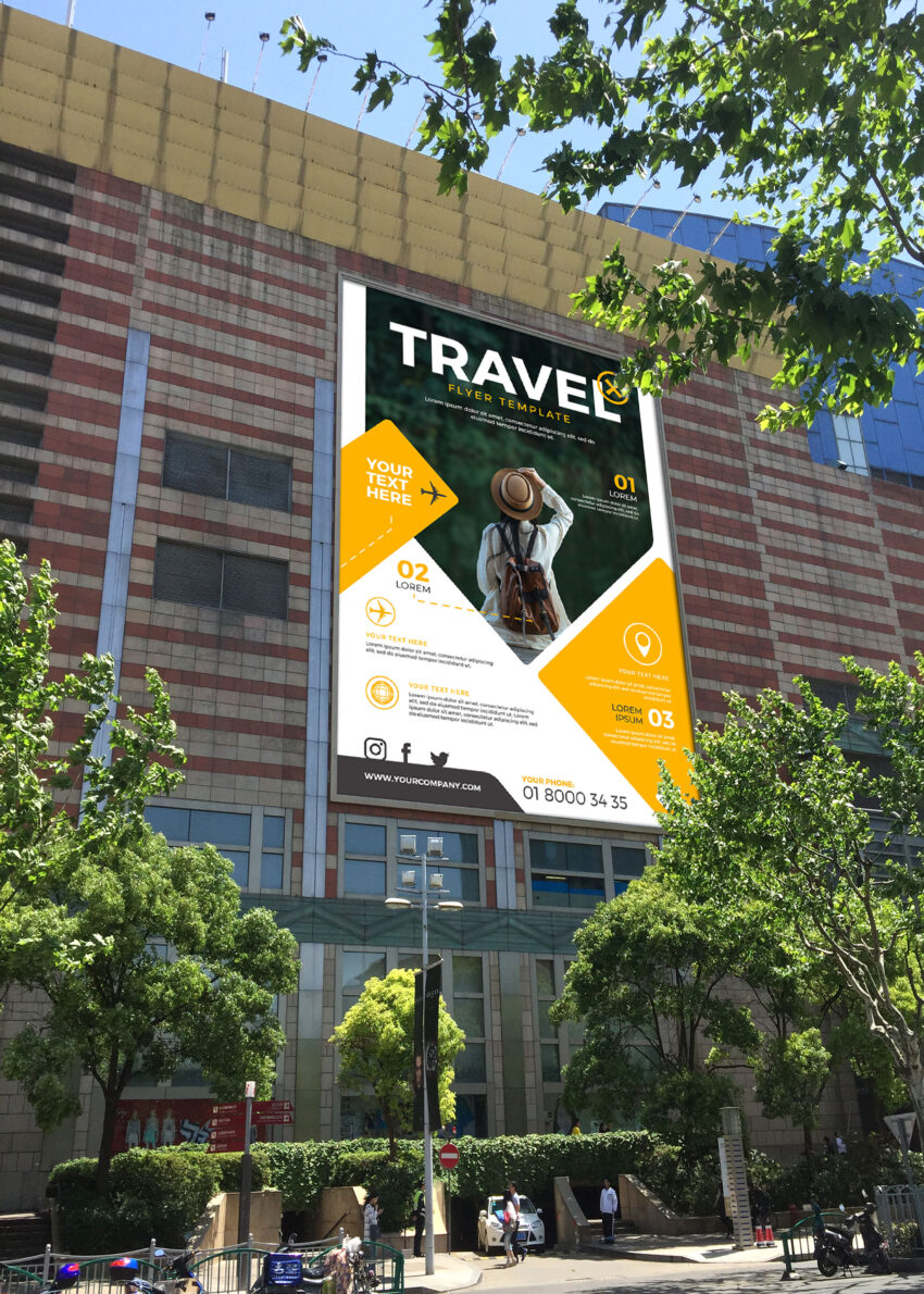 Office Building PSD Billboard Mockup