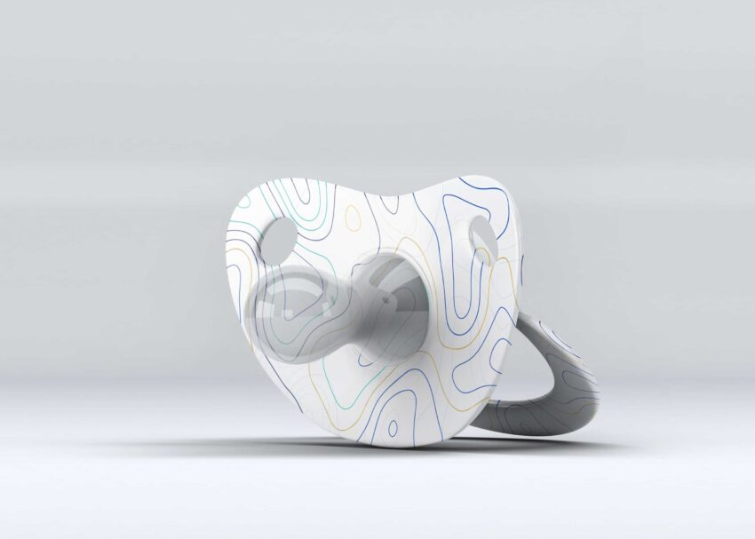 PSD Baby Pacifier Artwork Mock-up
