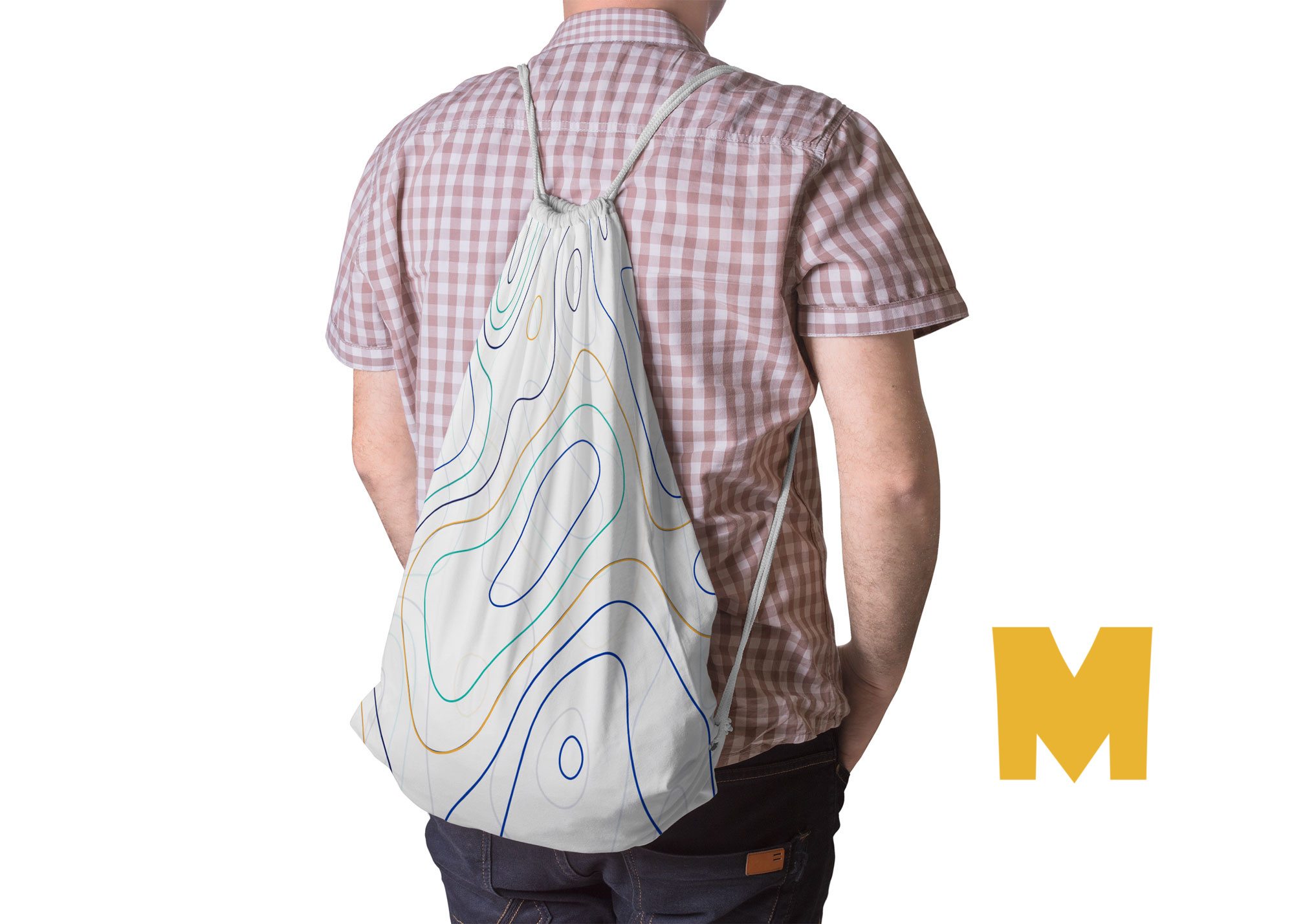 Free Drawstring Bag Artwork Mockup