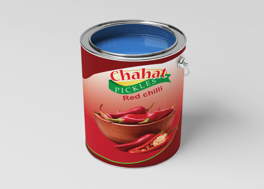 Red Chili Pickle Can Mockup